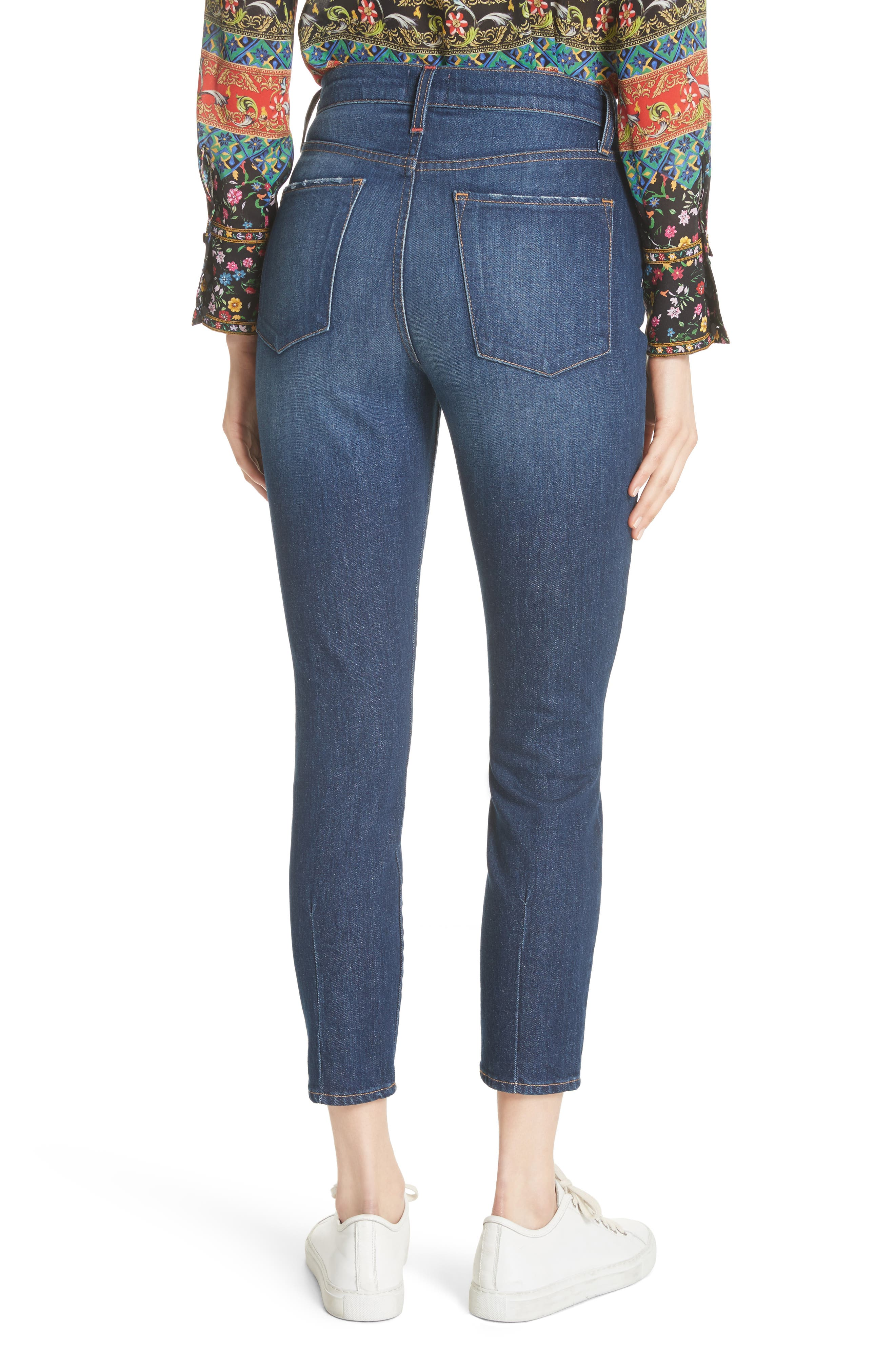 AO.LA Good High Waist Exposed Button Skinny Jeans,                             Alternate thumbnail 2, color,                             472