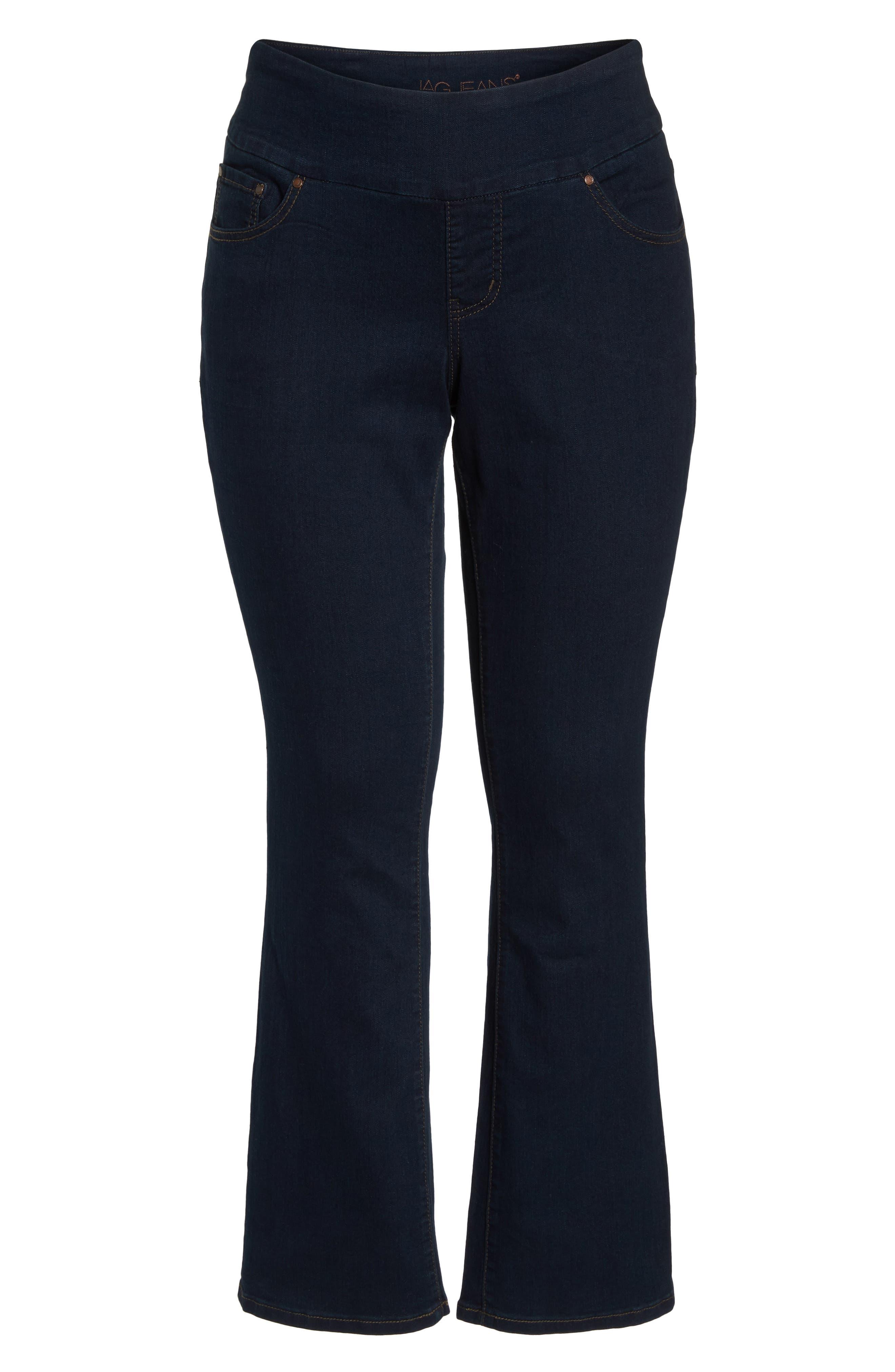 Peri Stretch Straight Leg Jeans,                             Alternate thumbnail 7, color,                             DARK INDIGO