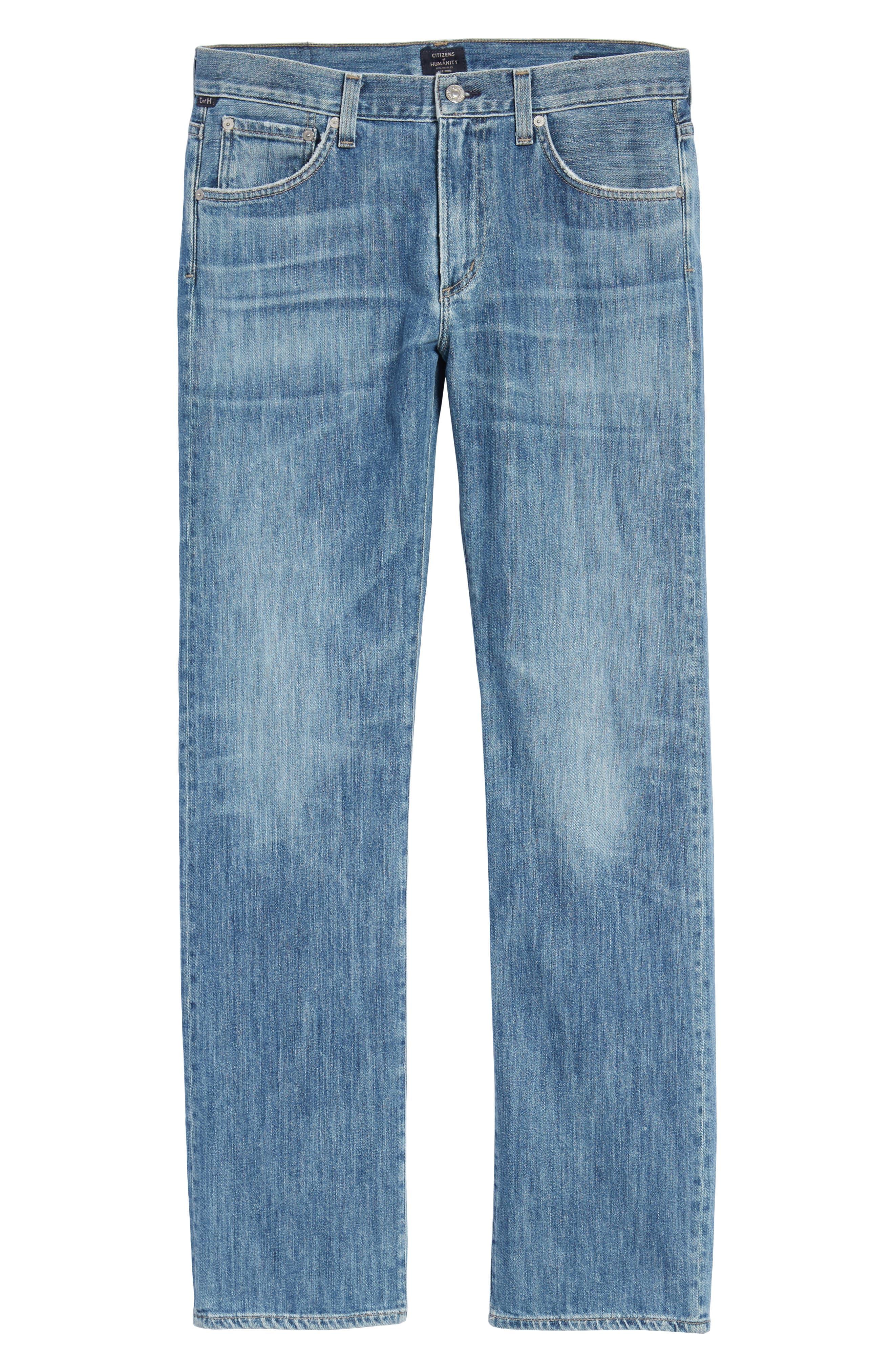Sid Straight Leg Jeans,                             Alternate thumbnail 6, color,                             456