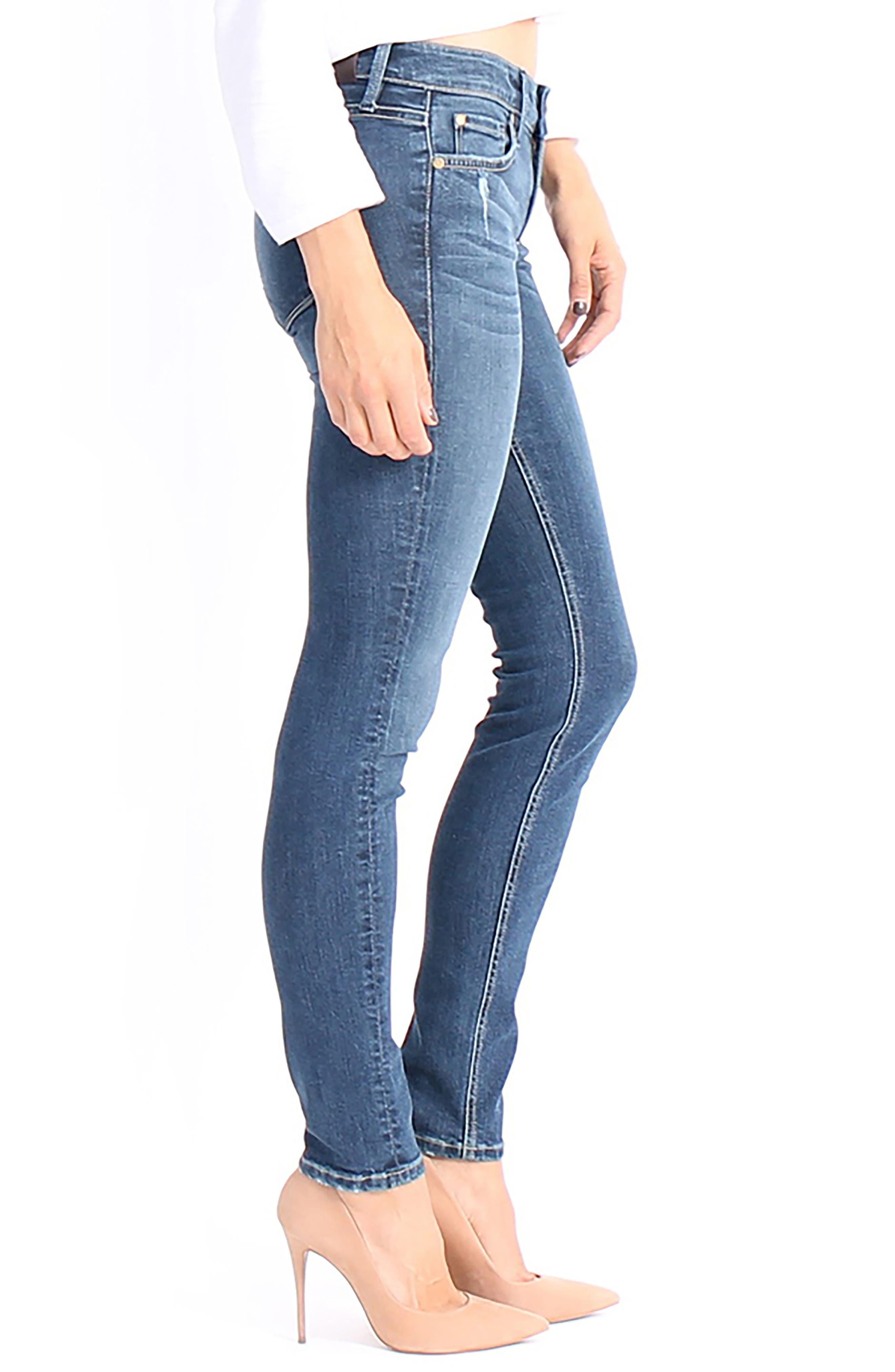 Lisa Stretch Distressed Super Skinny Jeans,                             Alternate thumbnail 3, color,                             472