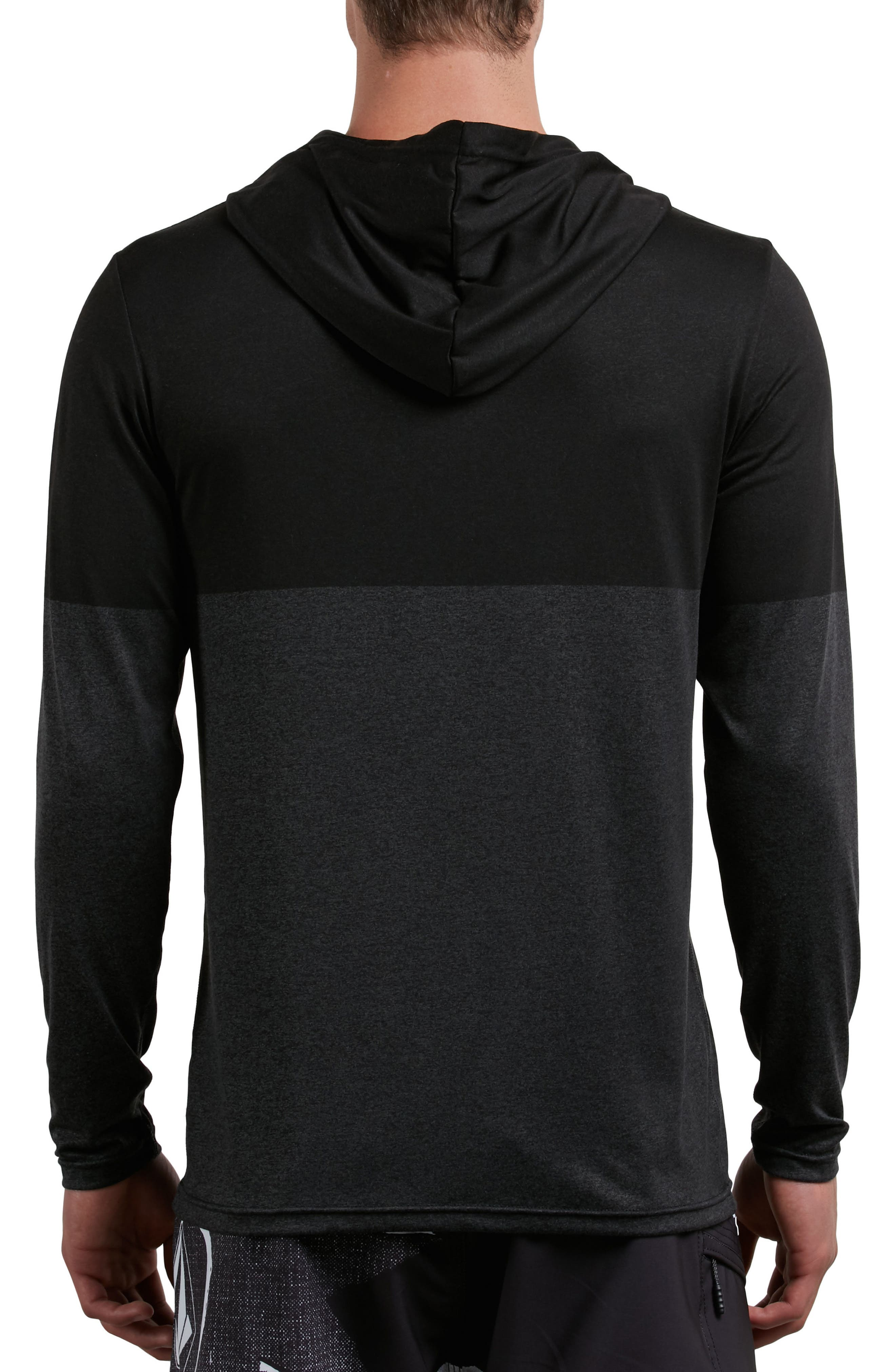 Lido Hooded Surf Shirt,                             Alternate thumbnail 2, color,                             CHARCOAL HEATHER