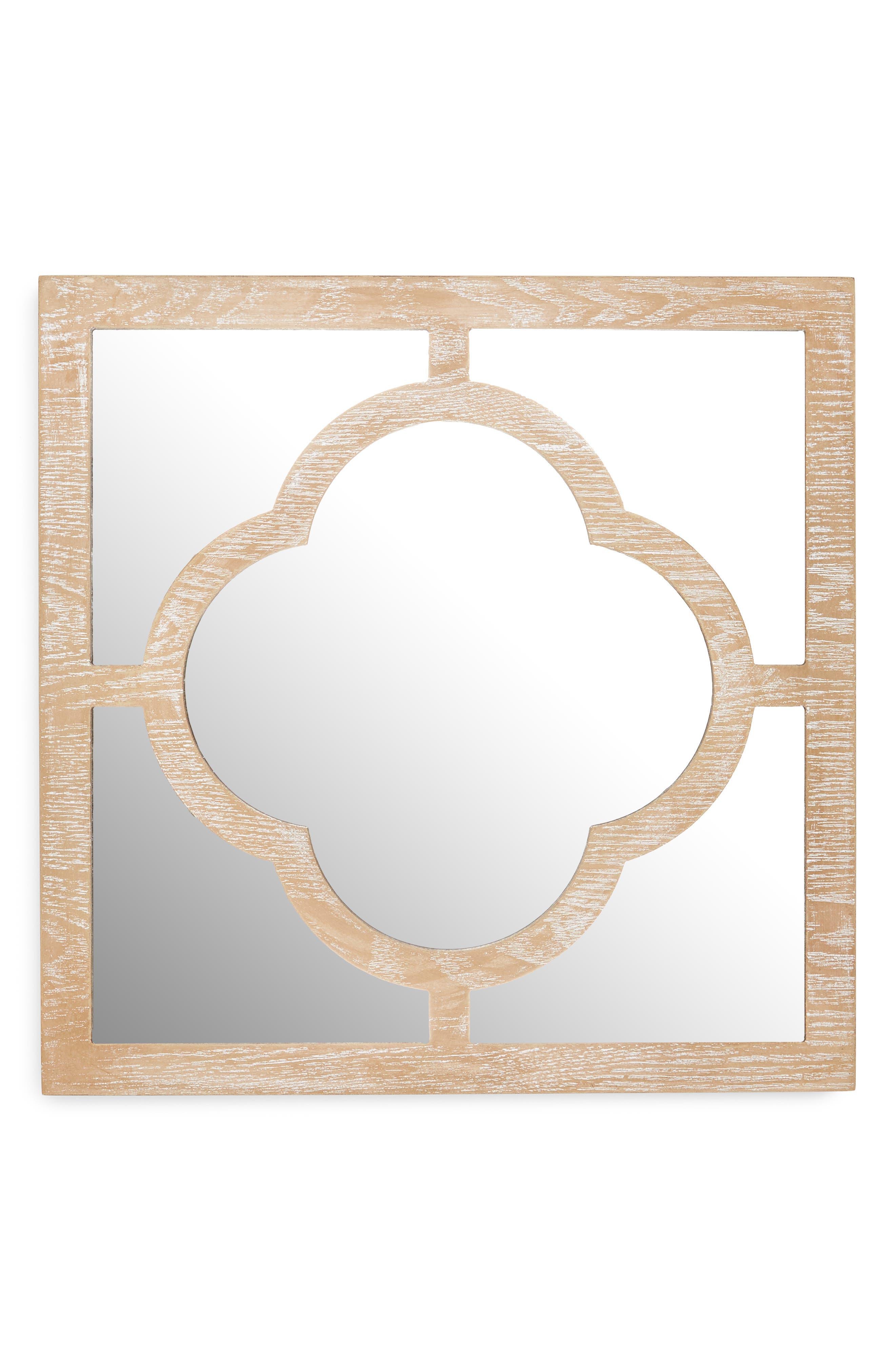 Square Quatrefoil Mirror,                             Main thumbnail 1, color,                             200
