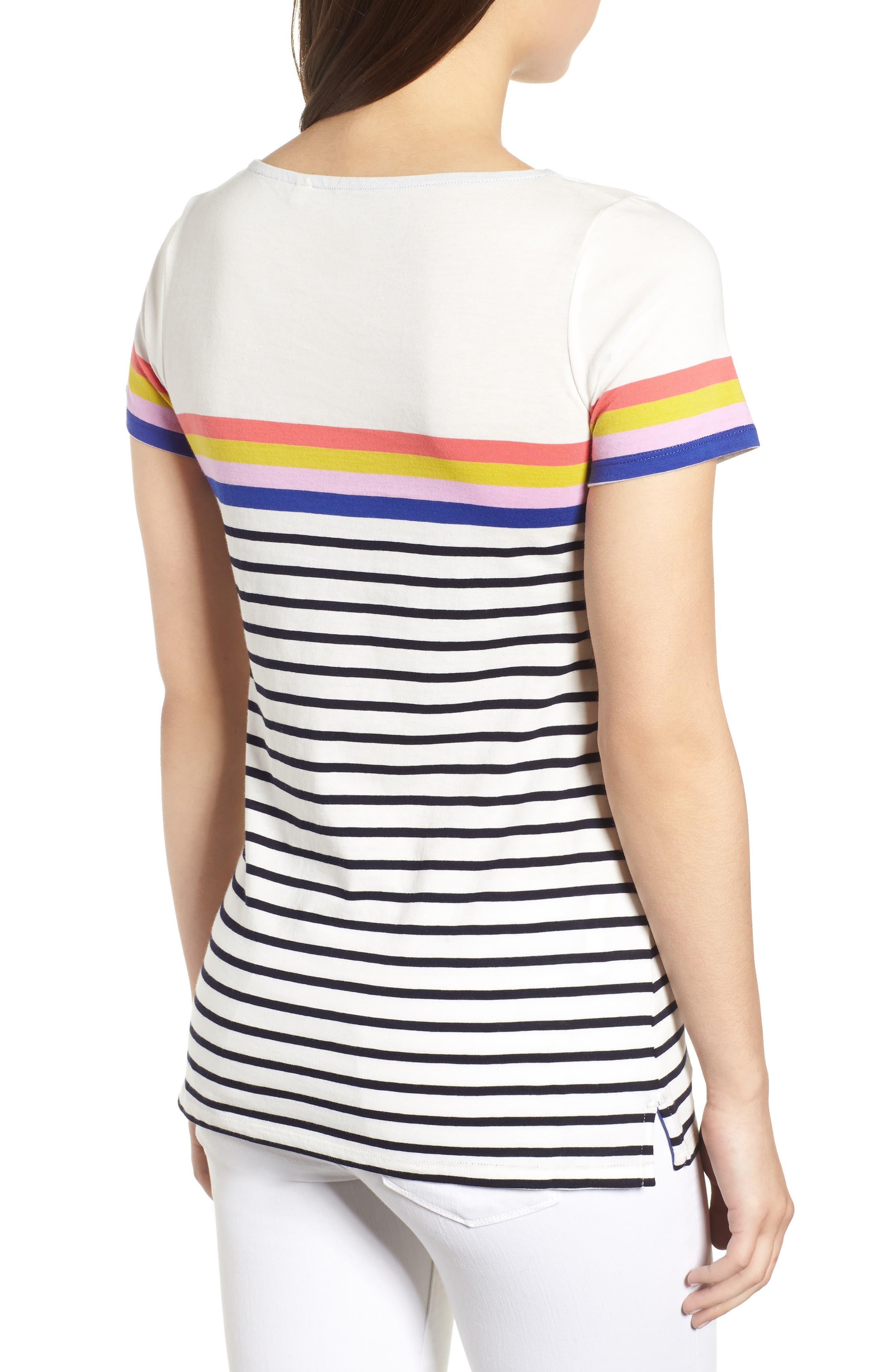 Breton Short Sleeve Stripe Cotton Top,                             Alternate thumbnail 10, color,