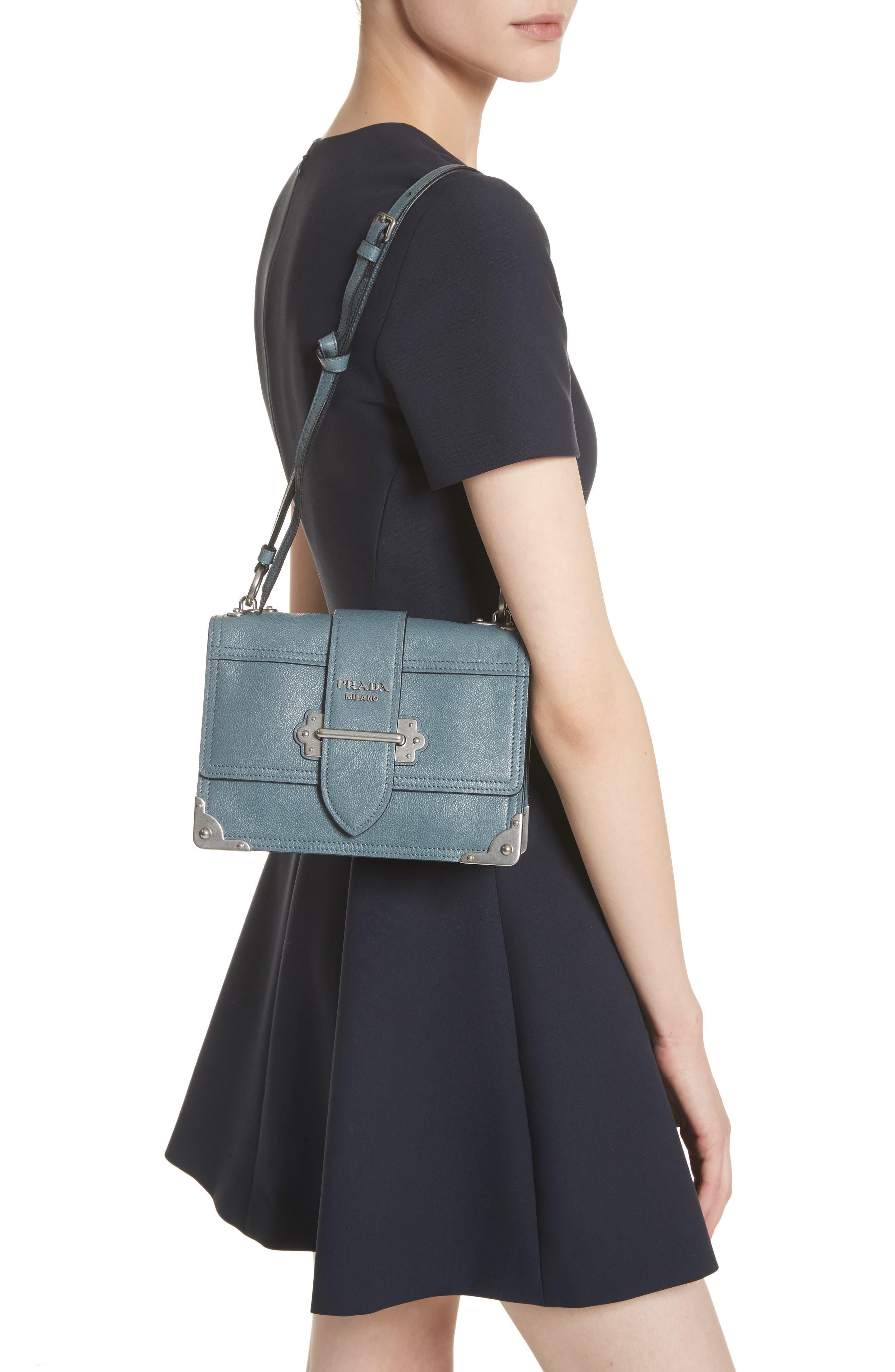 Cahier Glace Calfskin Convertible Shoulder Bag,                             Alternate thumbnail 2, color,                             MARINE/ ASTRALE 1