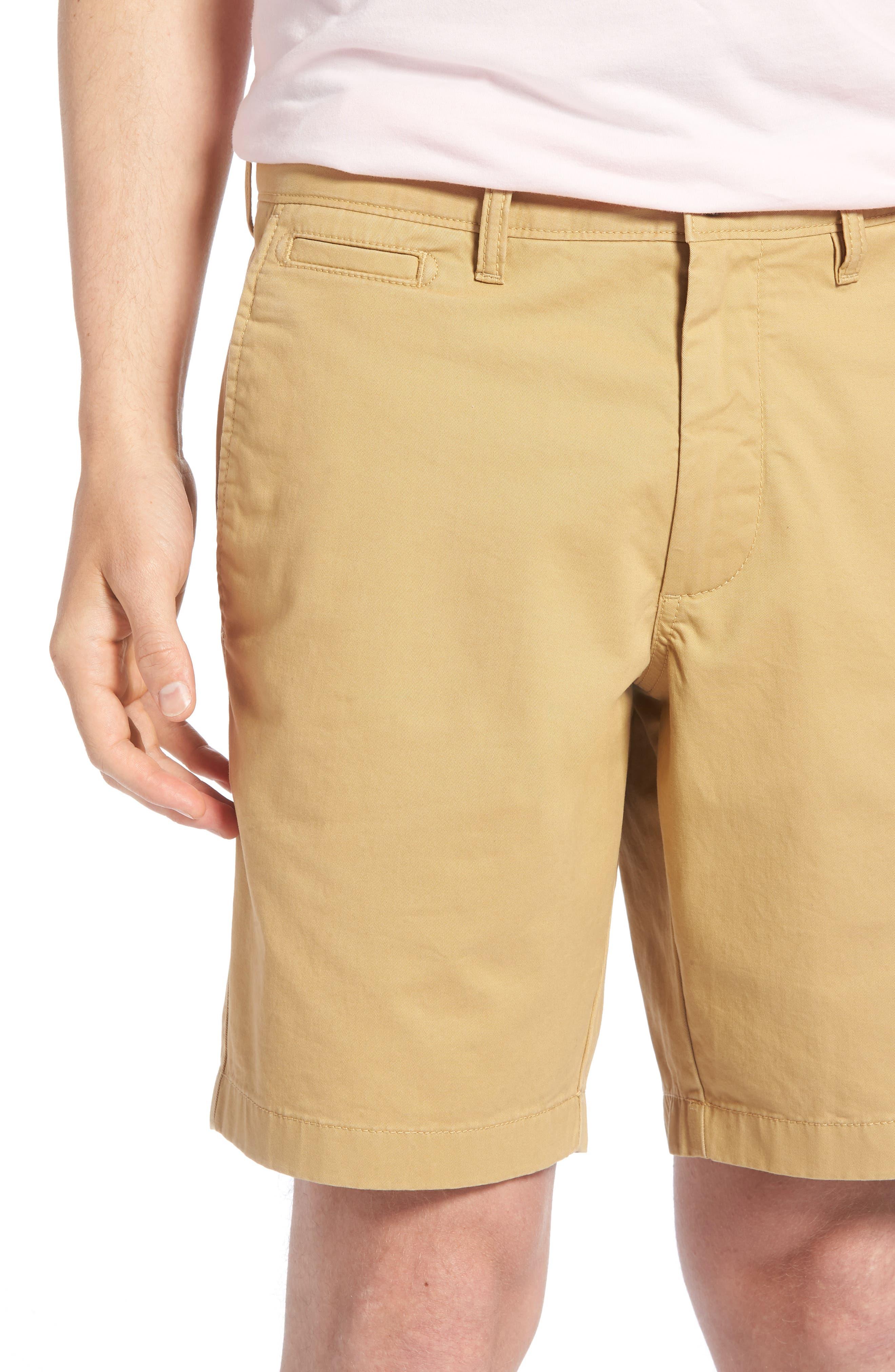 Ballard Slim Fit Stretch Chino 9-Inch Shorts,                             Alternate thumbnail 4, color,                             TAN LARK