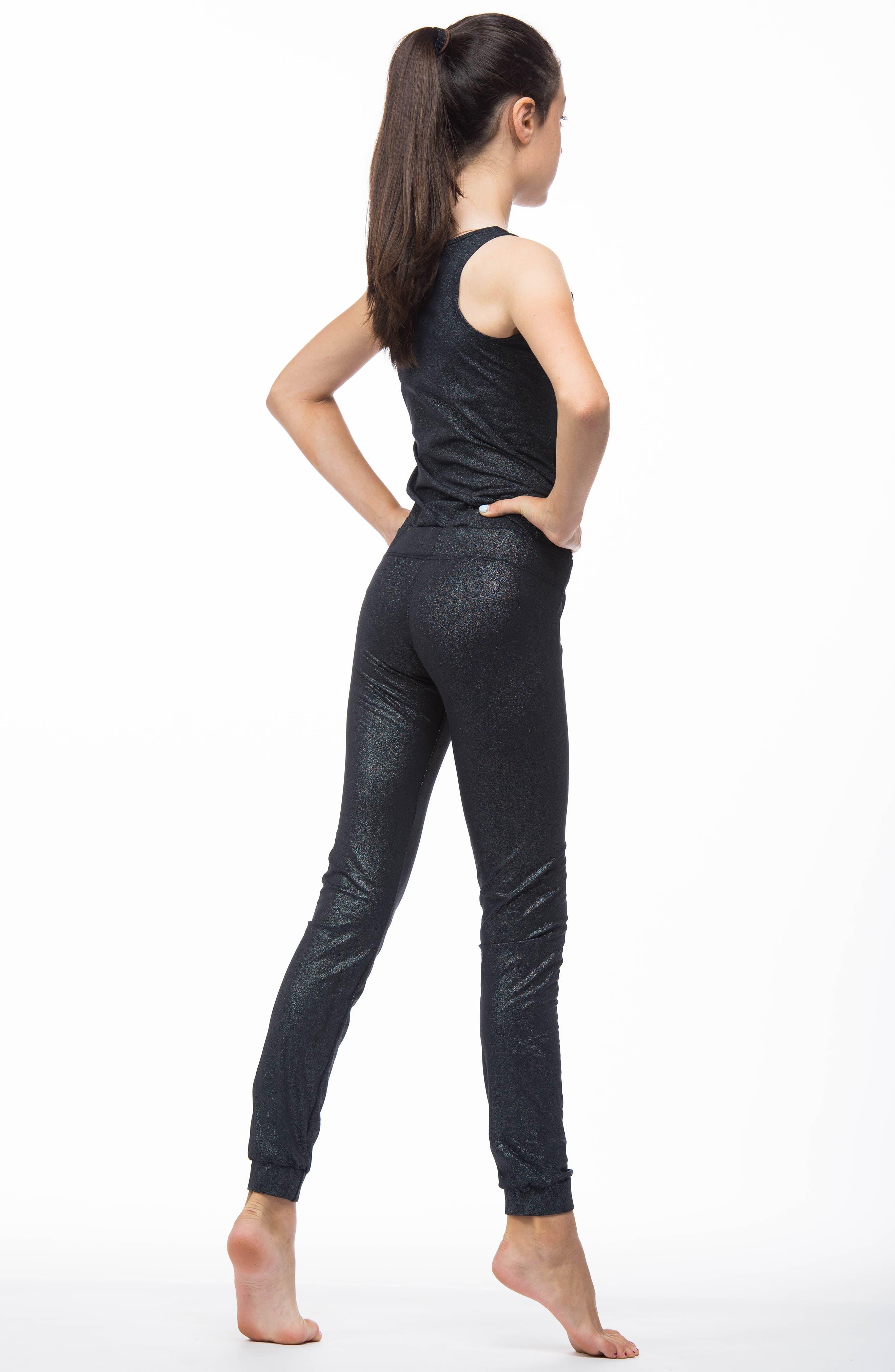 Riya Metallic Jumpsuit,                             Alternate thumbnail 4, color,                             MOONLESS NIGHT