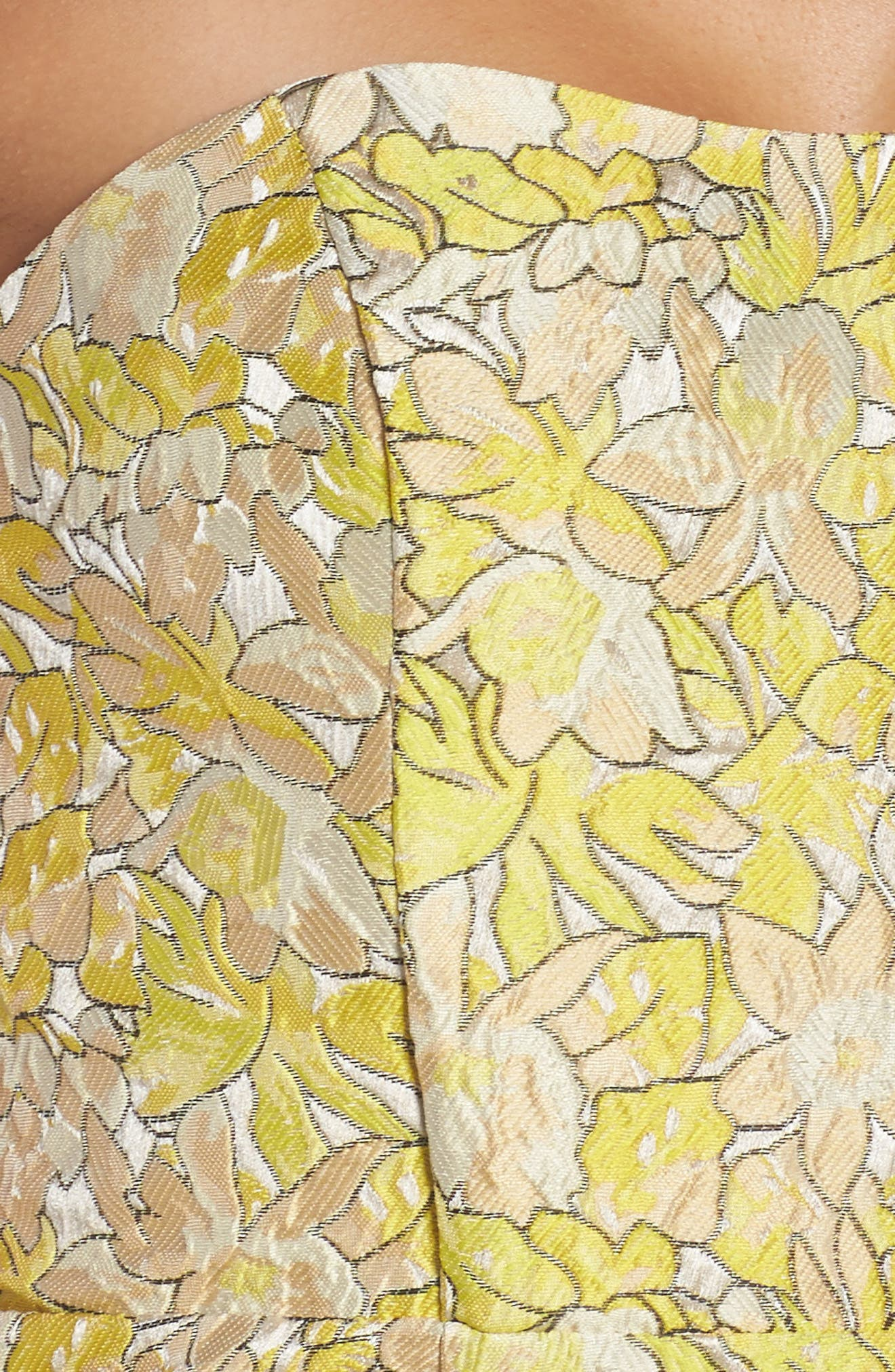 Gretta Strapless Jacquard Sheath Dress,                             Alternate thumbnail 4, color,                             730