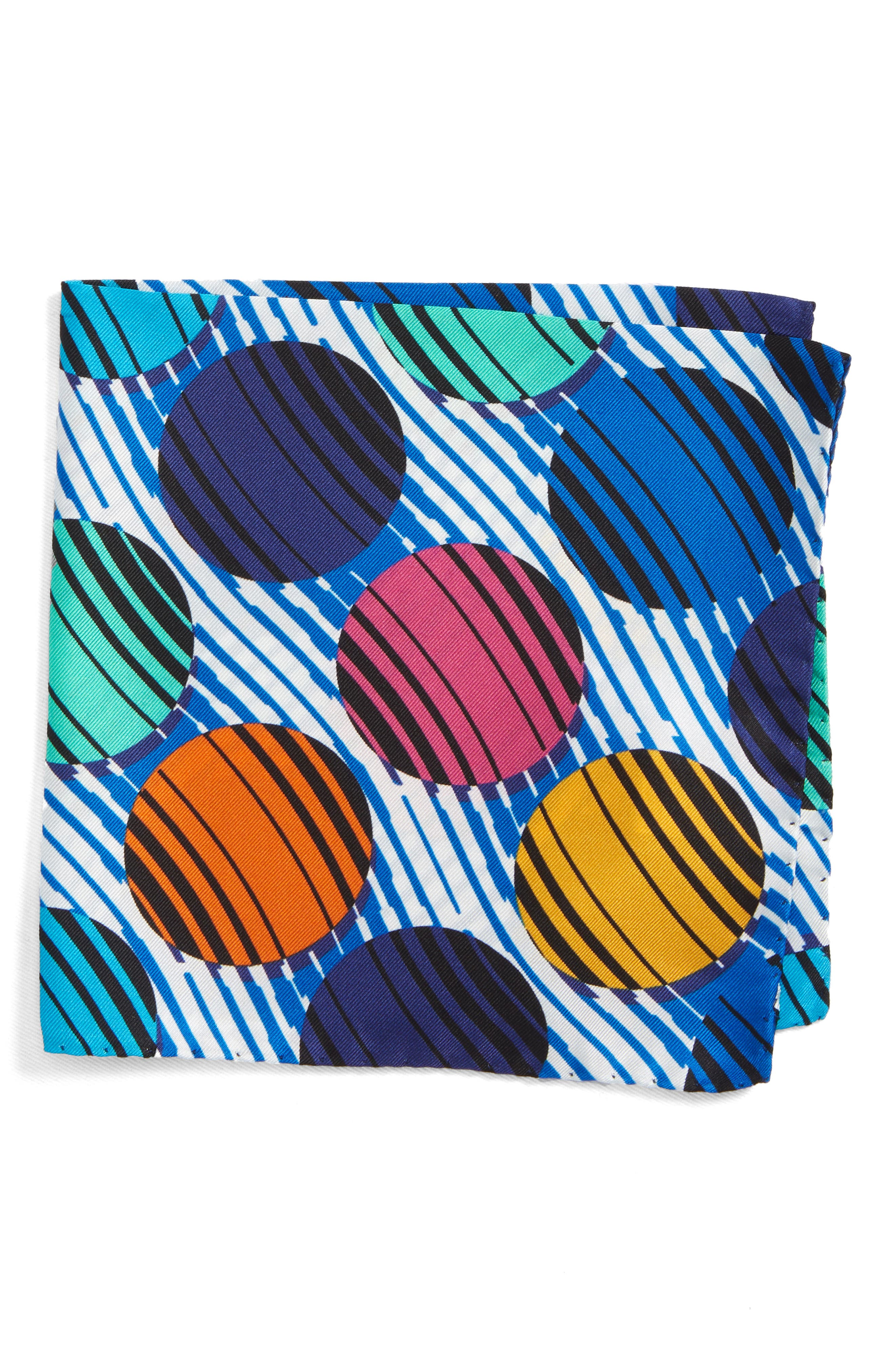 Dot Silk Pocket Square,                         Main,                         color,