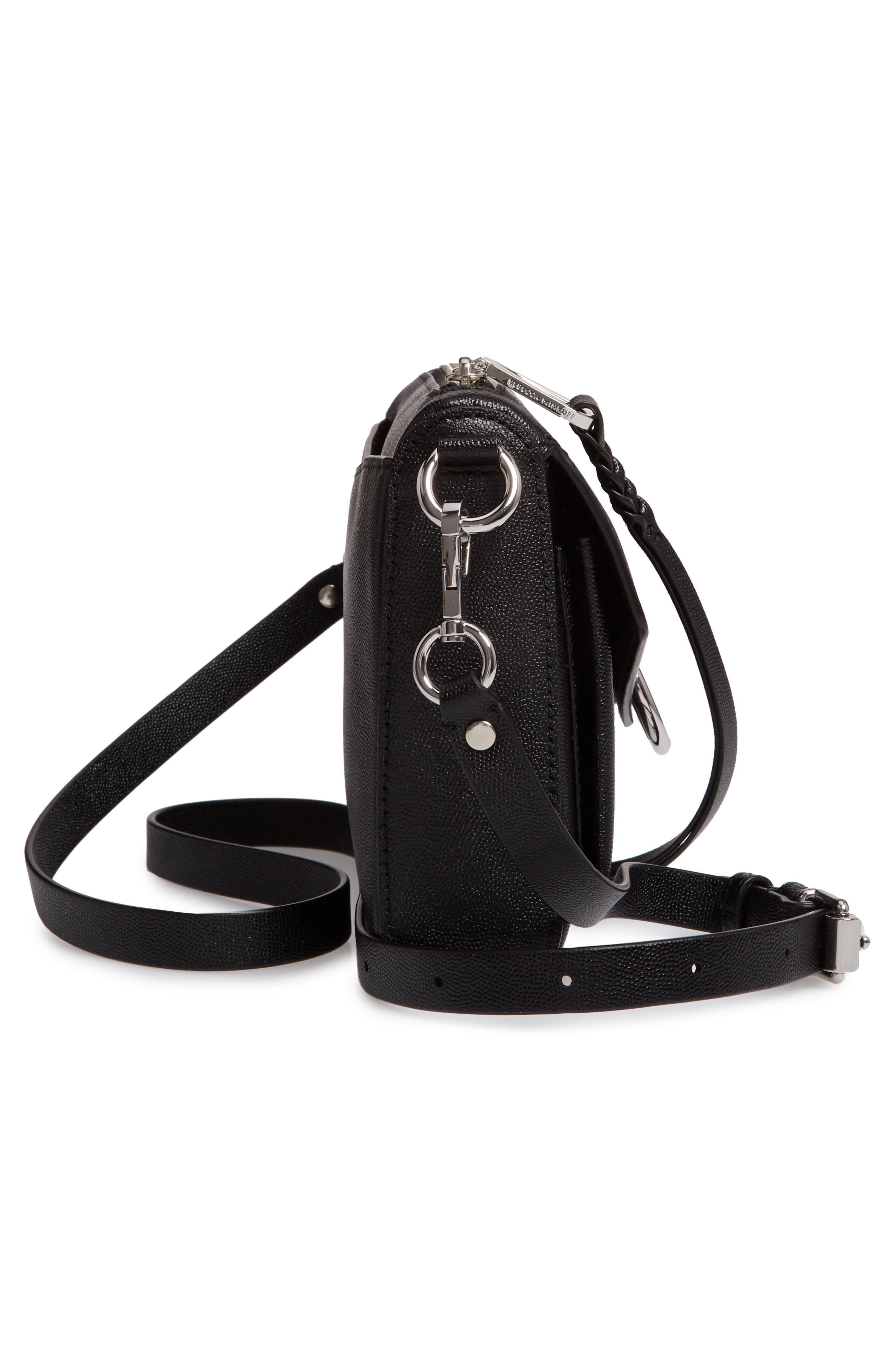 Jean MAC Convertible Crossbody Bag,                             Alternate thumbnail 5, color,                             BLACK