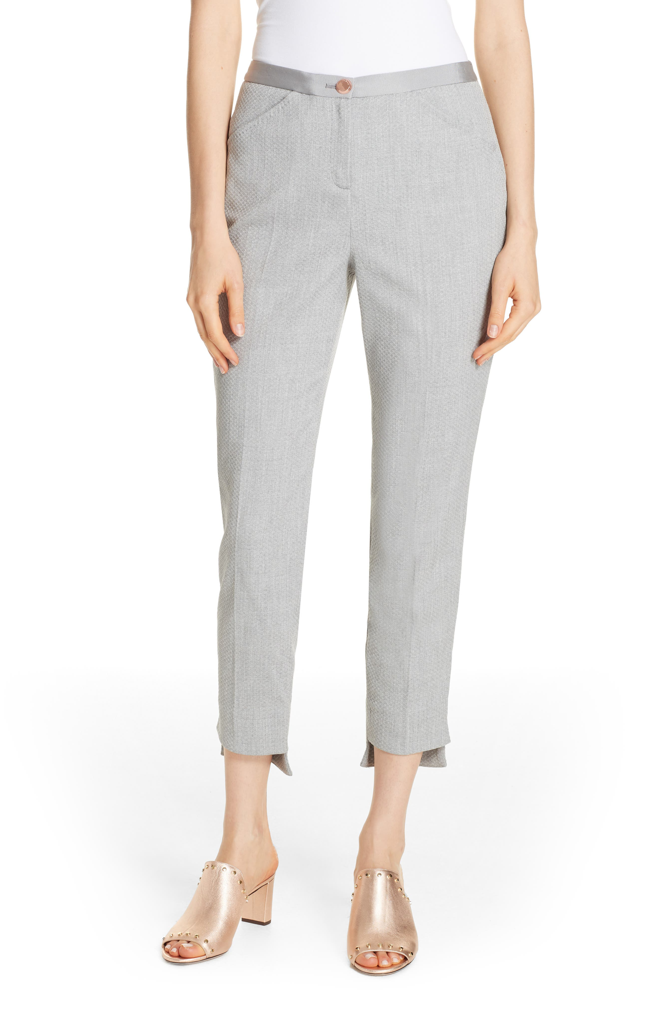 Ted Working Title Daizit Skinny Crop Pants,                         Main,                         color, GREY