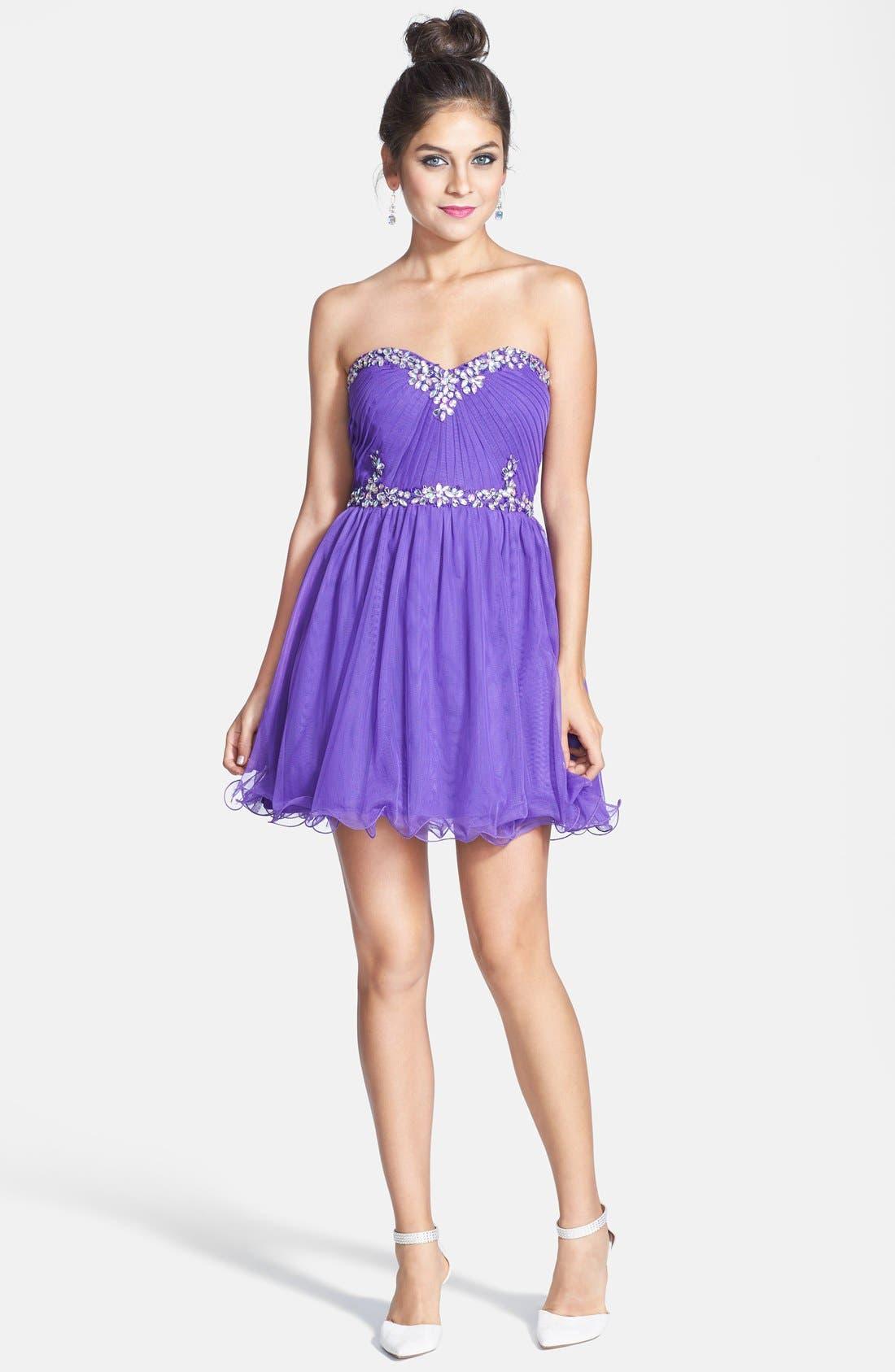 Embellished Party Dress, Main, color, 500