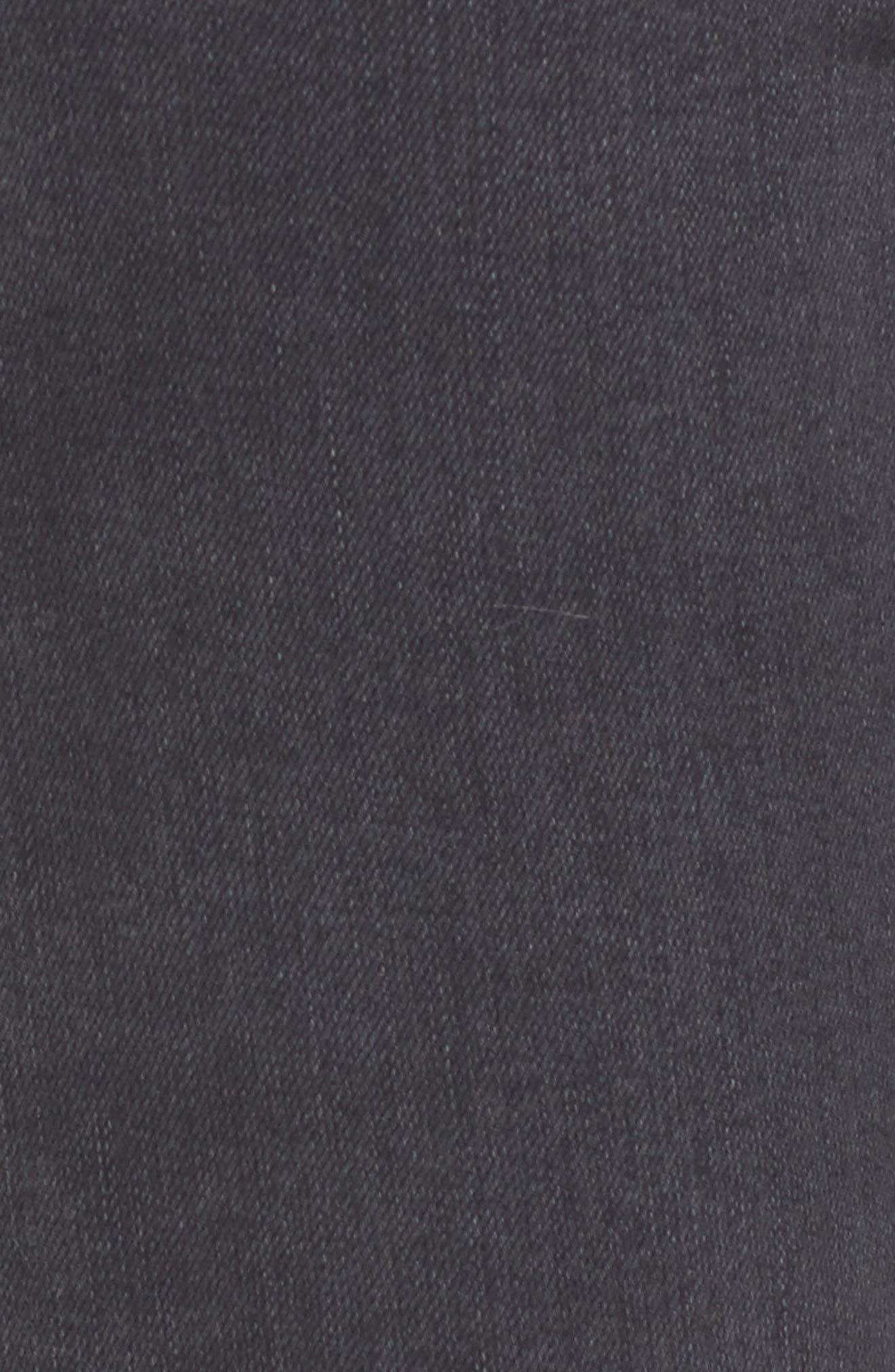 Joni Ripped Crop Skinny Jeans,                             Alternate thumbnail 5, color,                             001