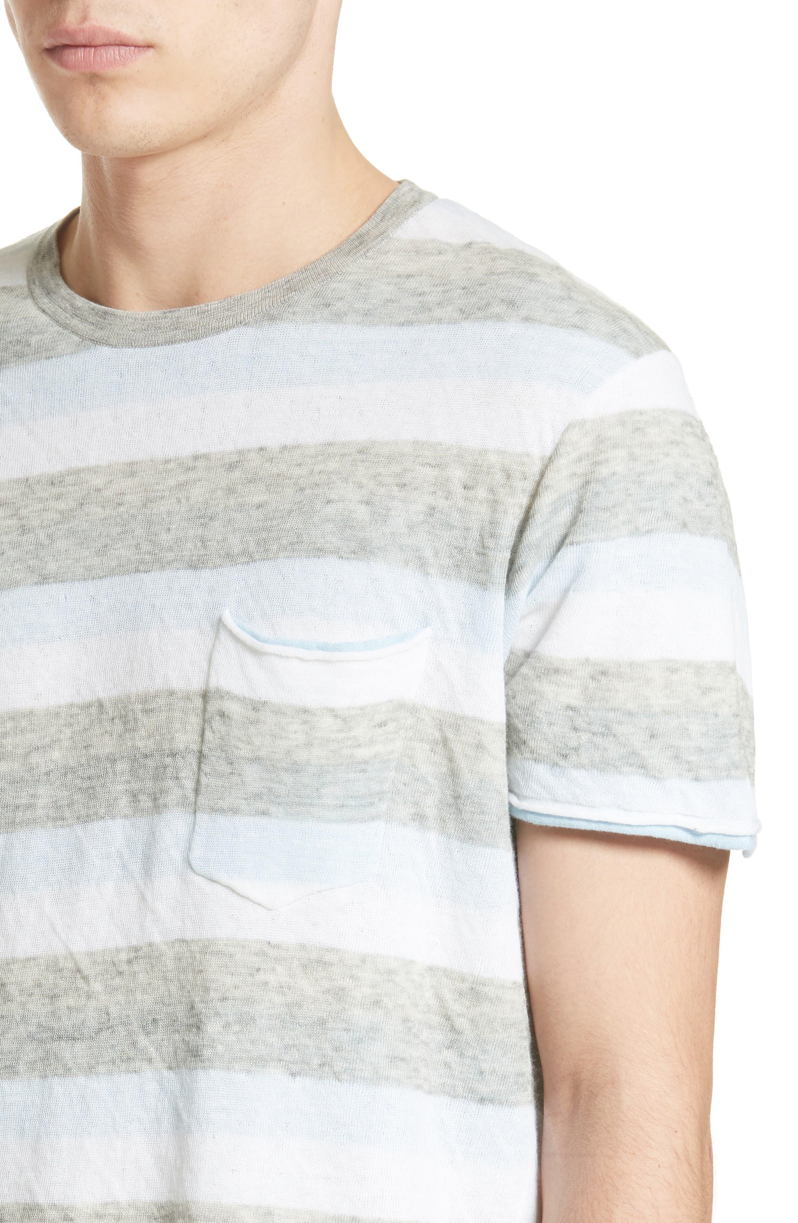 Tripp Cotton & Wool T-Shirt,                             Alternate thumbnail 4, color,                             461