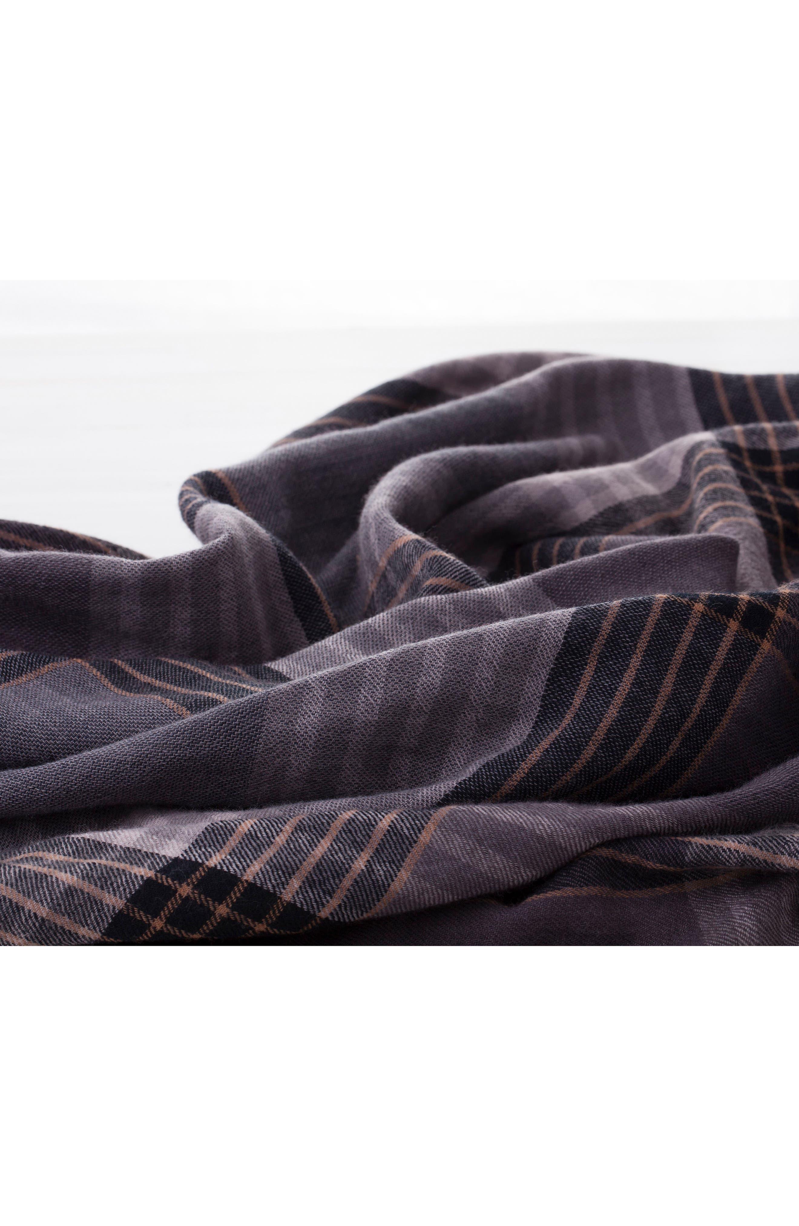 MODERN STAPLES,                             Plaid Double Face Merino Wool Throw,                             Alternate thumbnail 3, color,                             060