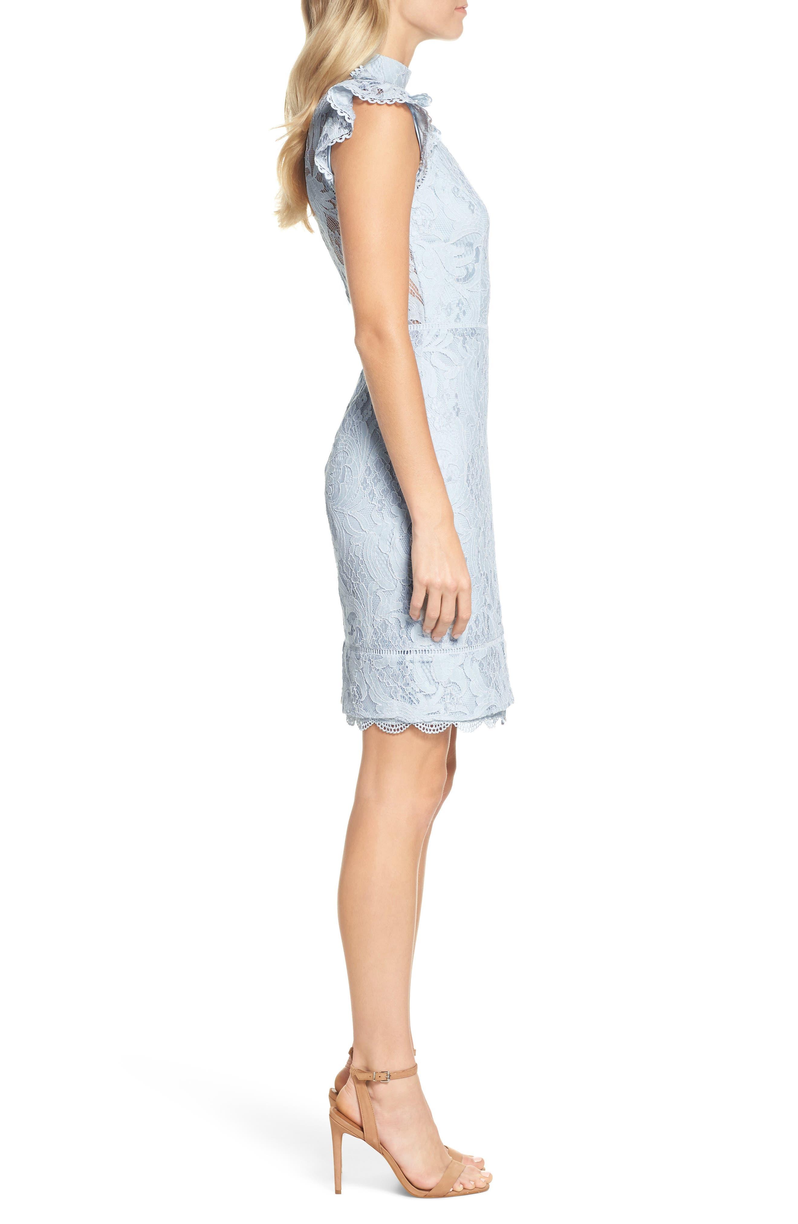 Delilah Lace Sheath Dress,                             Alternate thumbnail 5, color,