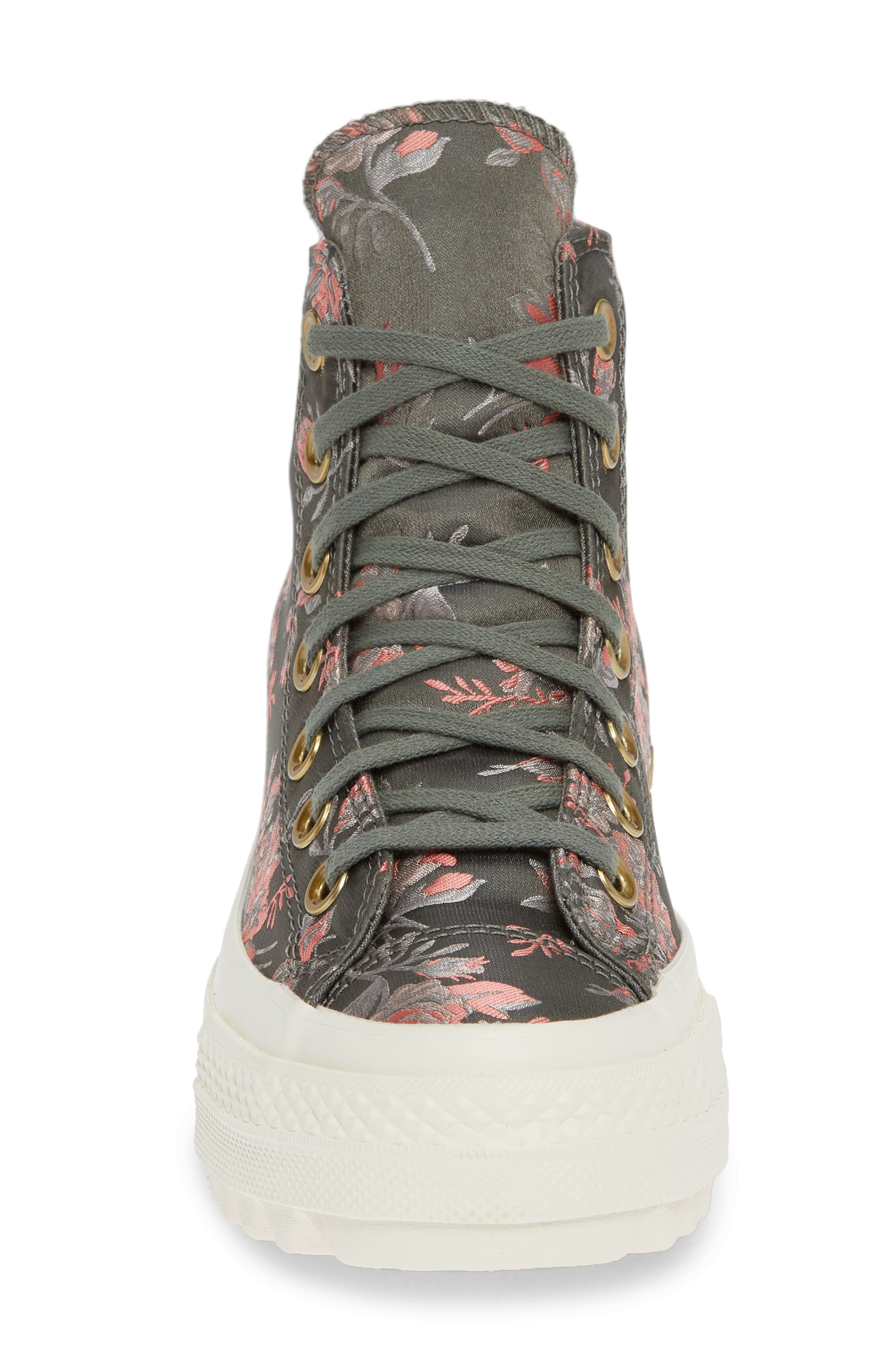 Chuck Taylor<sup>®</sup> All Star<sup>®</sup> Lift Ripple Parkway Floral High Top Sneaker,                             Alternate thumbnail 4, color,                             020