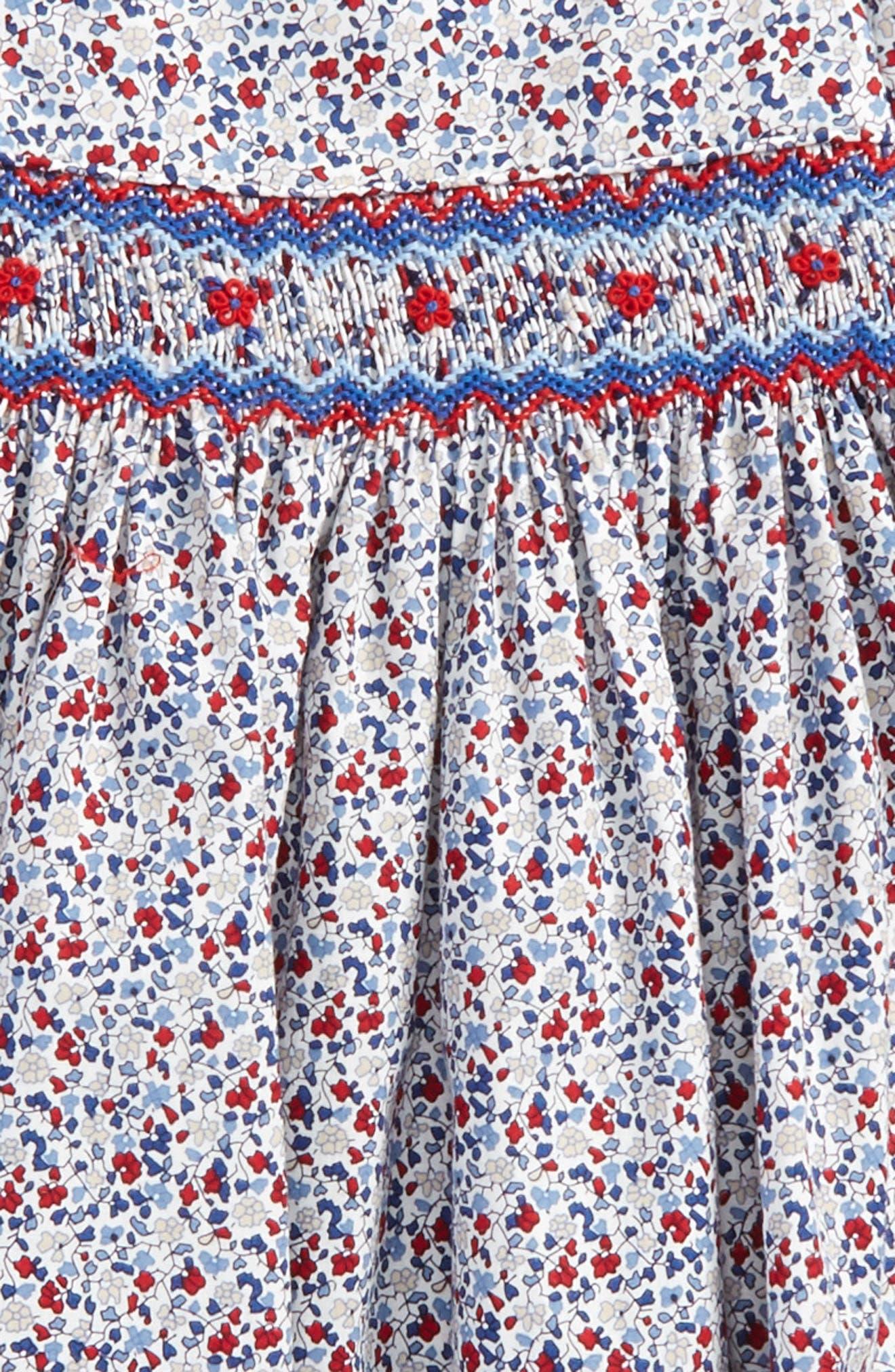Floral Smocked Dress,                             Alternate thumbnail 2, color,                             600