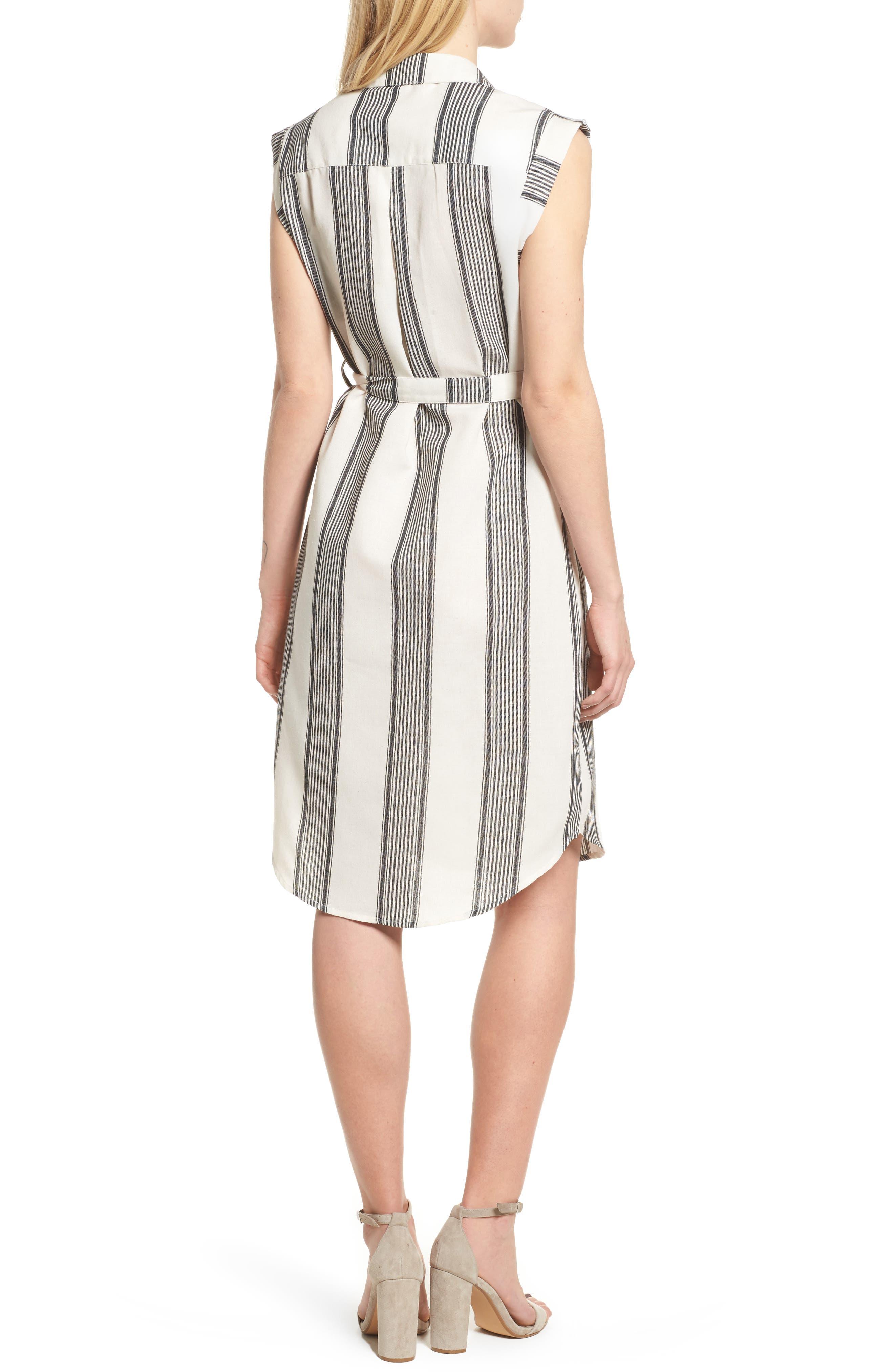 Bishop + Young Stripe Shirtdress,                             Alternate thumbnail 2, color,