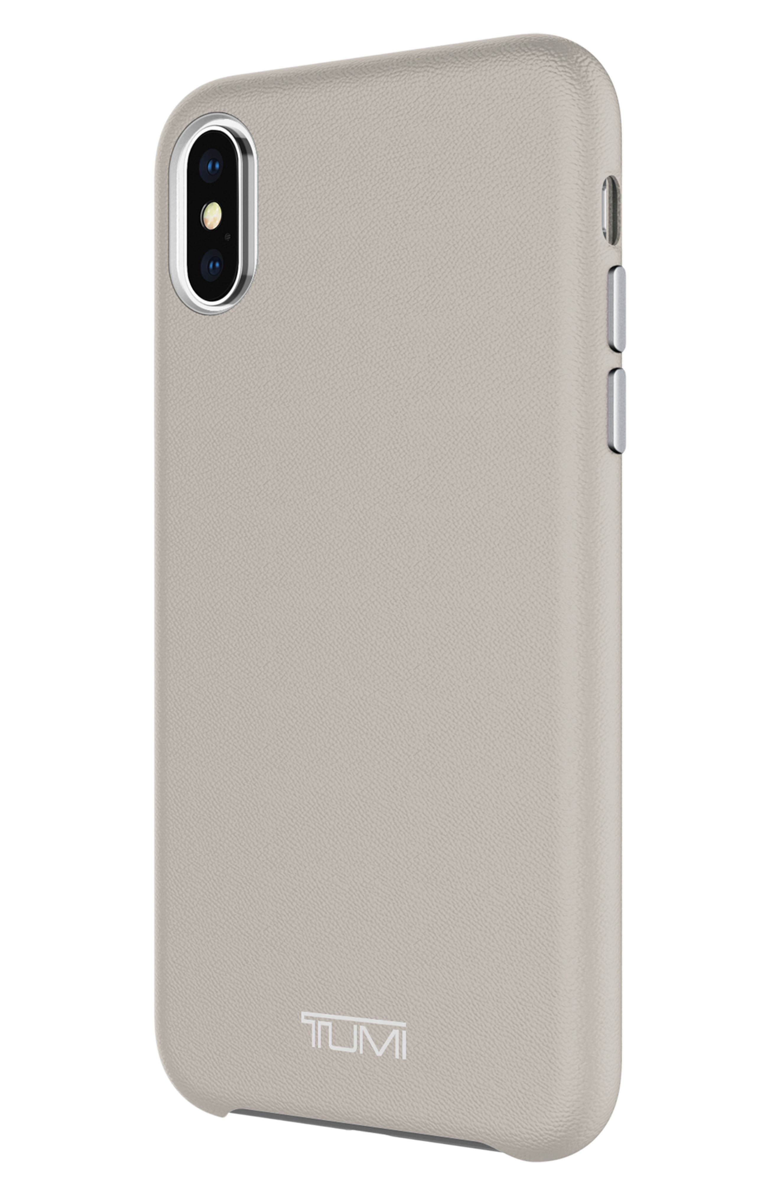 Leather iPhone X Case,                             Alternate thumbnail 14, color,