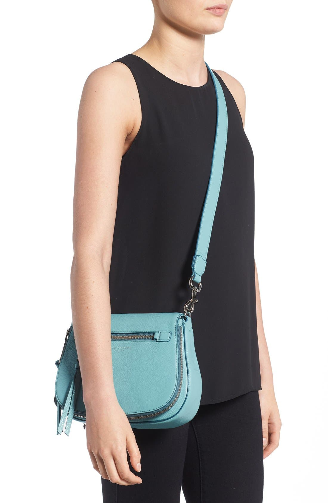 Small Recruit Nomad Pebbled Leather Crossbody Bag,                             Alternate thumbnail 24, color,