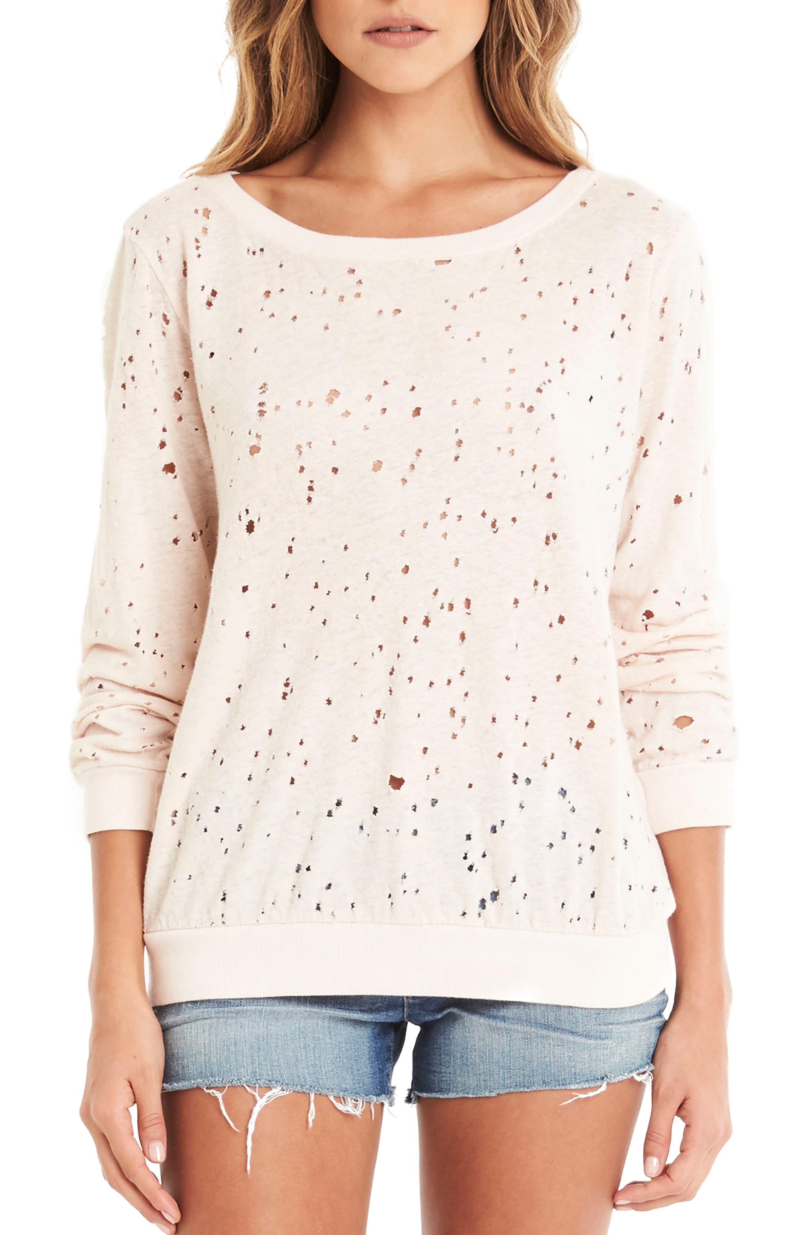 Ripped Sweatshirt,                             Main thumbnail 1, color,                             020