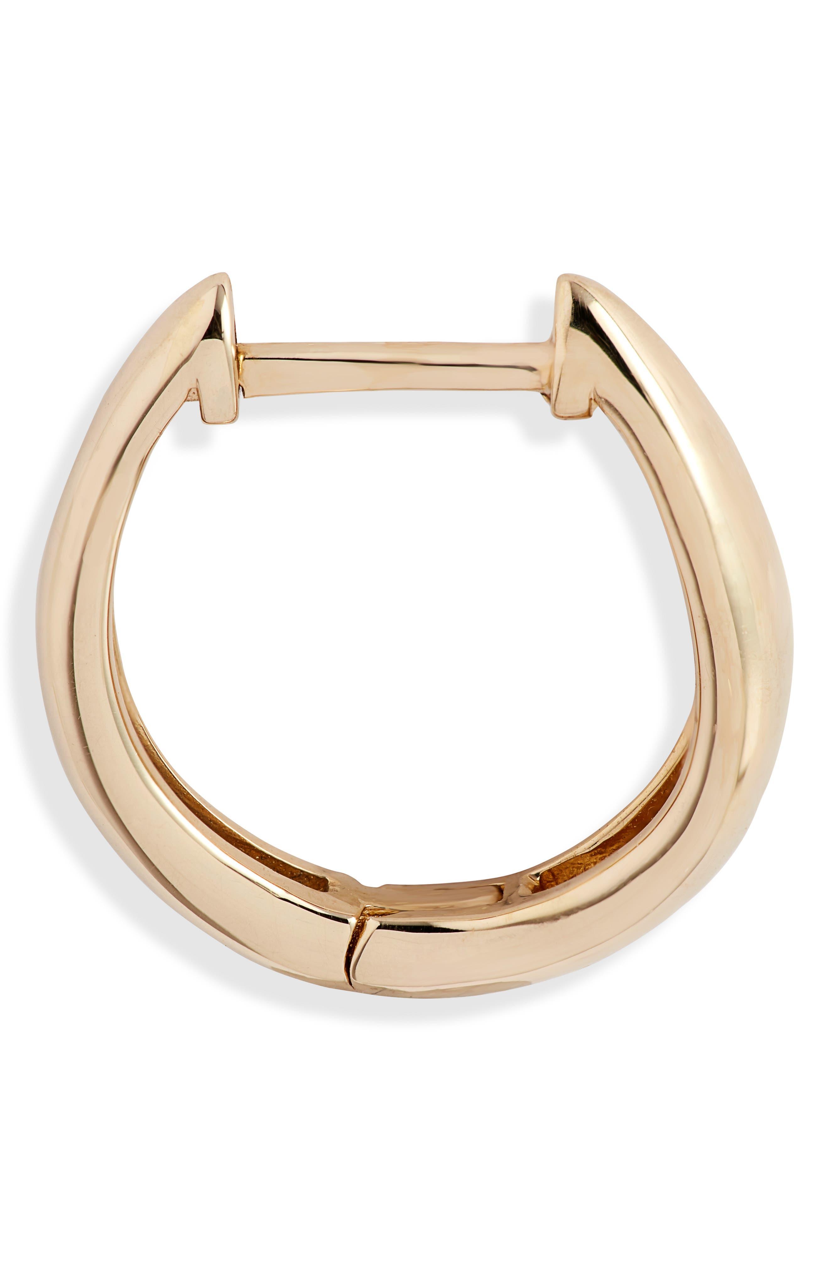 BONY LEVY,                             14K Gold Hoop Earrings,                             Alternate thumbnail 4, color,                             YELLOW GOLD/ DIA