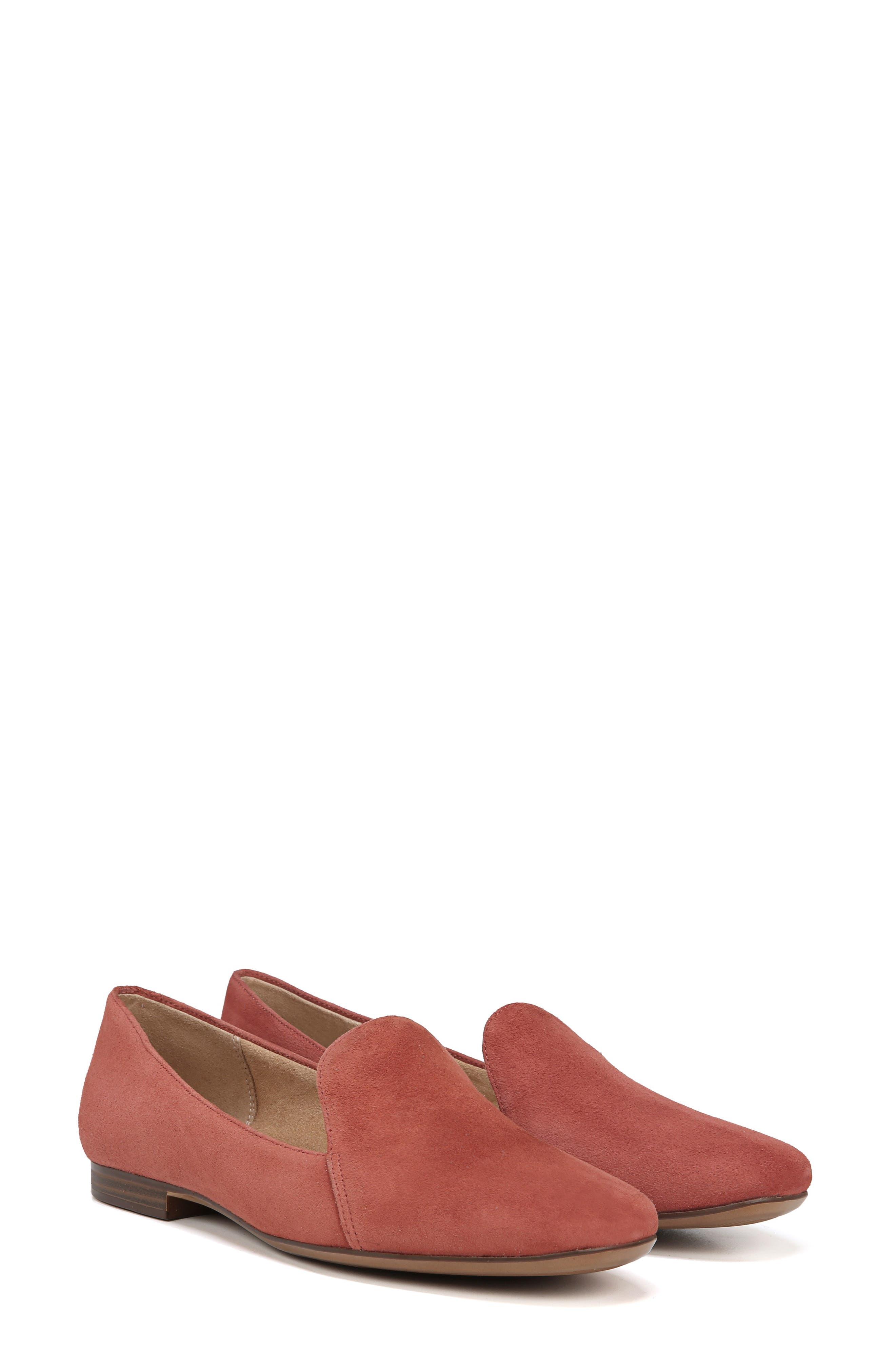 Emiline Flat Loafer,                             Alternate thumbnail 8, color,                             DESERT CLAY SUEDE