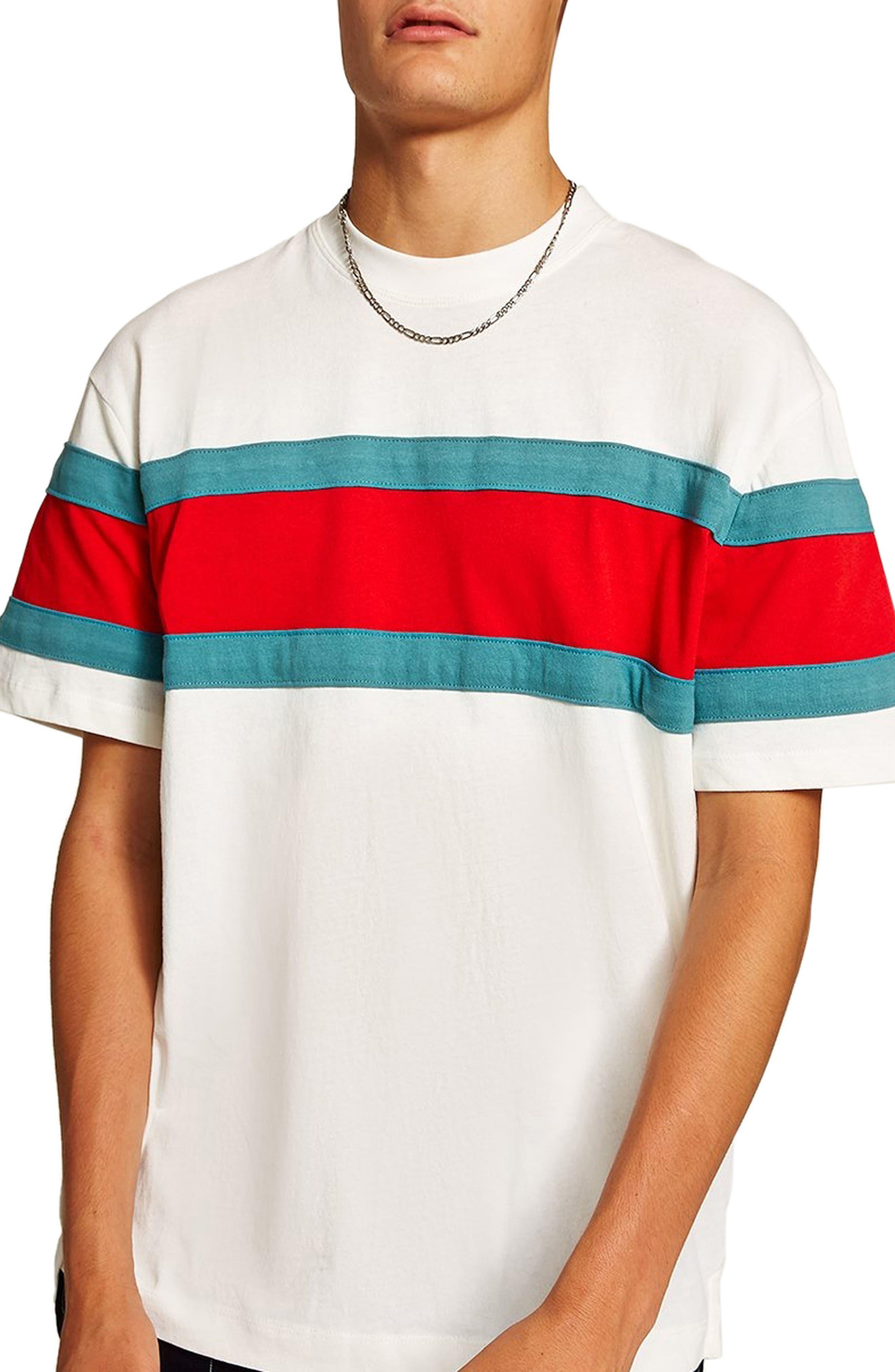 Oversize Stripe T-Shirt,                             Main thumbnail 1, color,                             101