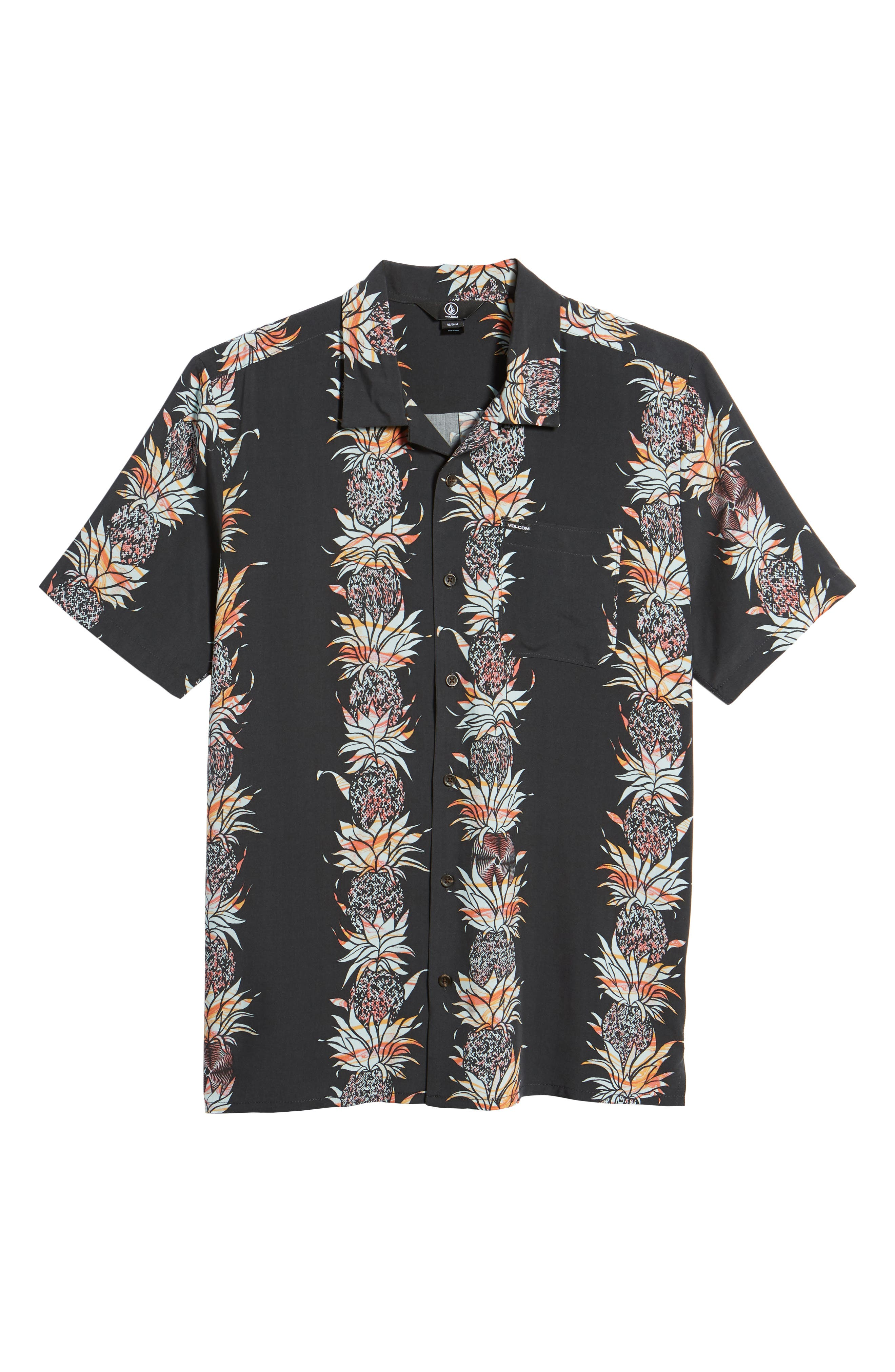 Palm Glitch Woven Shirt,                             Alternate thumbnail 8, color,