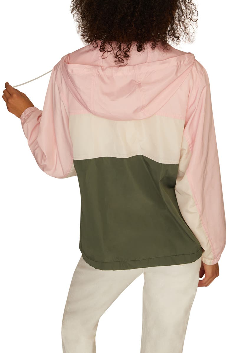 SANCTUARY Neopolitan Colorblock Zip Front Hooded Jacket, Alternate, color, MULTI COLORED