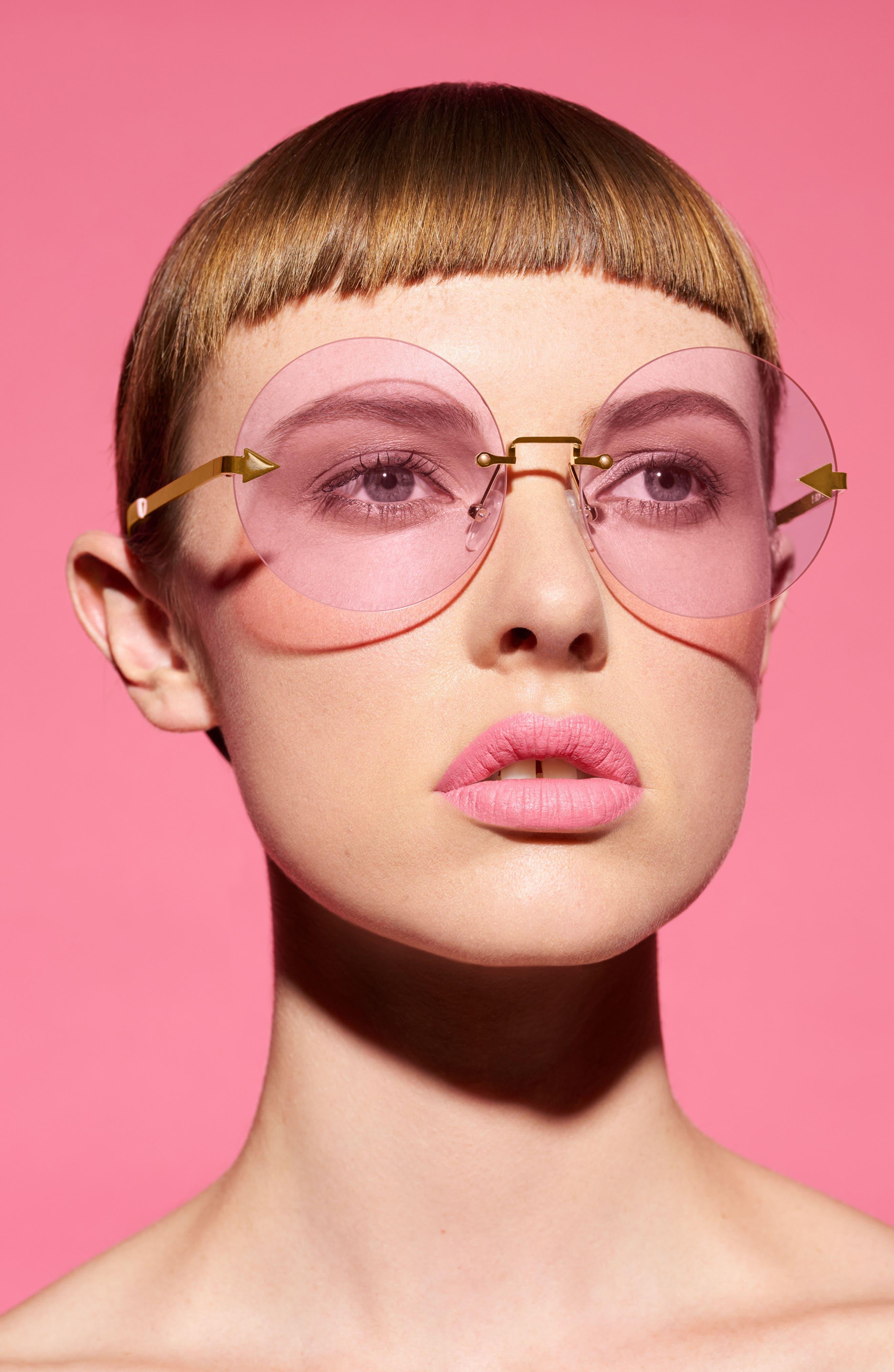 Disco Circus 60mm Rimless Round Sunglasses,                             Alternate thumbnail 21, color,