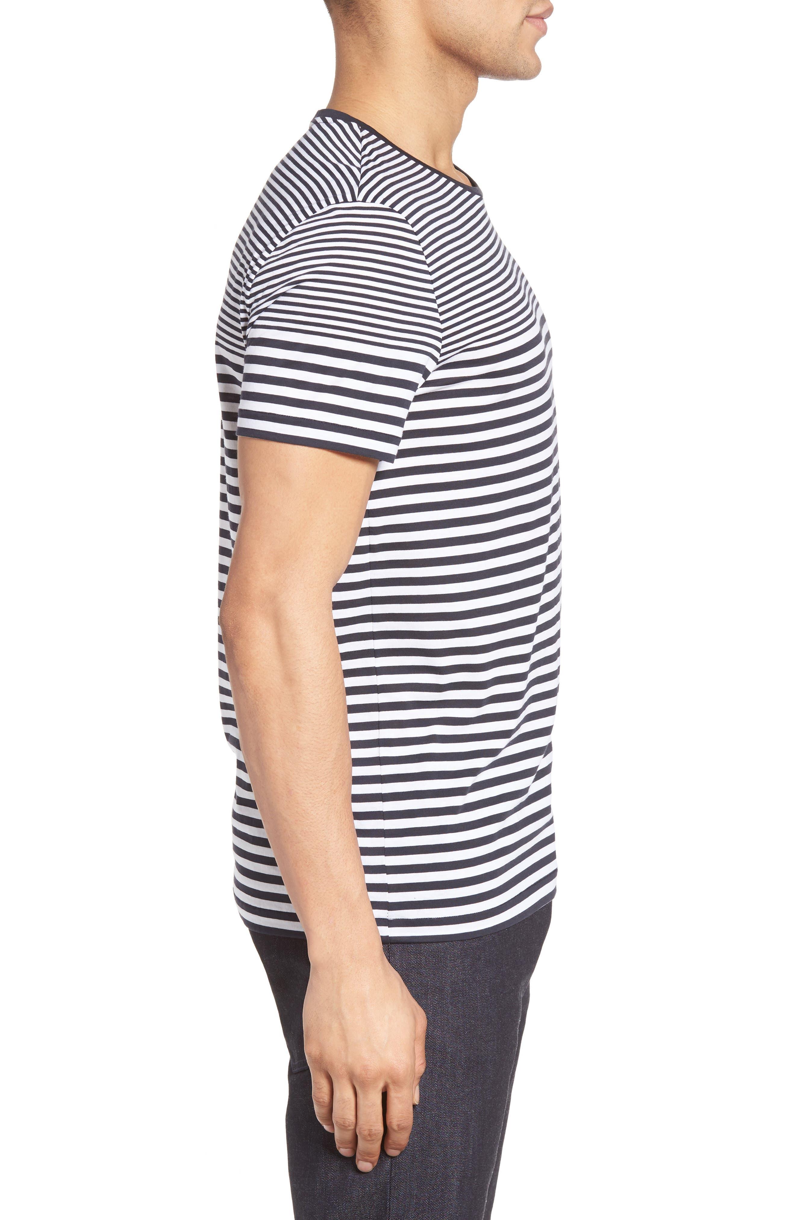 Tessler Slim Fit Stripe T-Shirt,                             Alternate thumbnail 6, color,