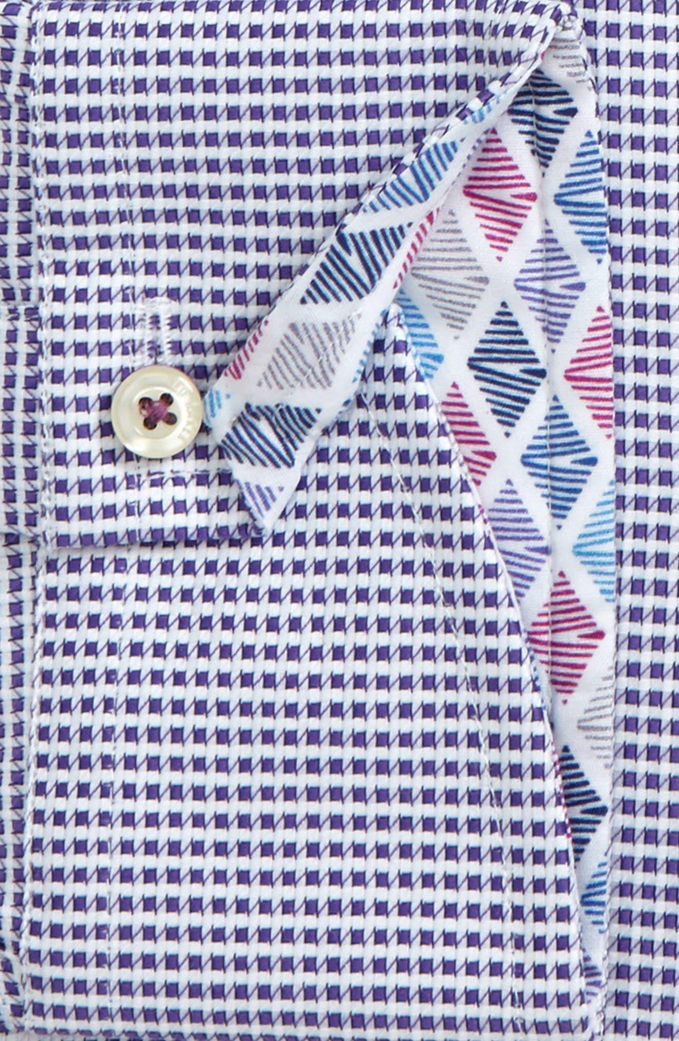 Endurance Giara Trim Fit Dress Shirt,                             Alternate thumbnail 4, color,