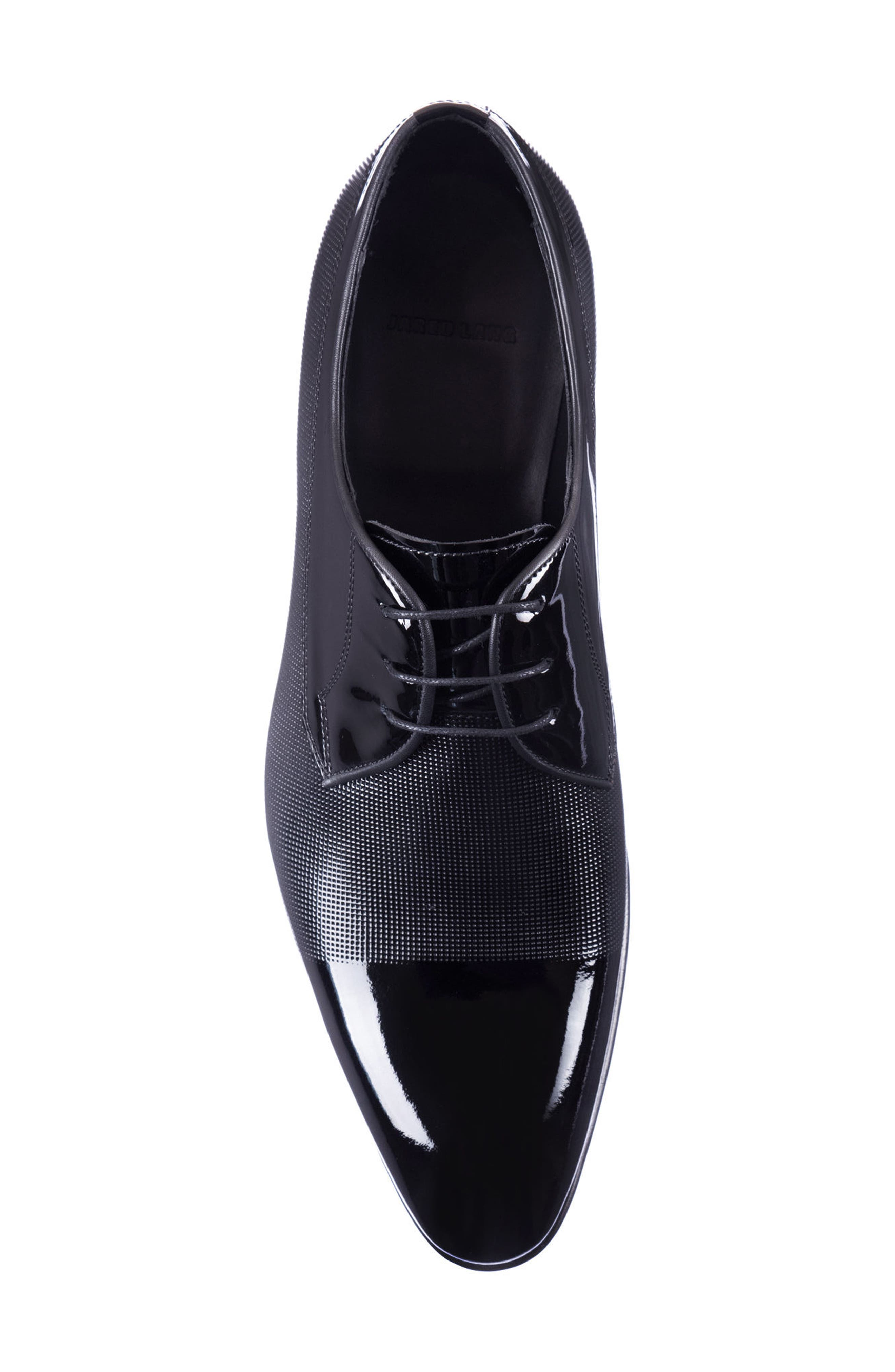 Riccardo Cap Toe Derby,                             Alternate thumbnail 5, color,                             BLACK LEATHER