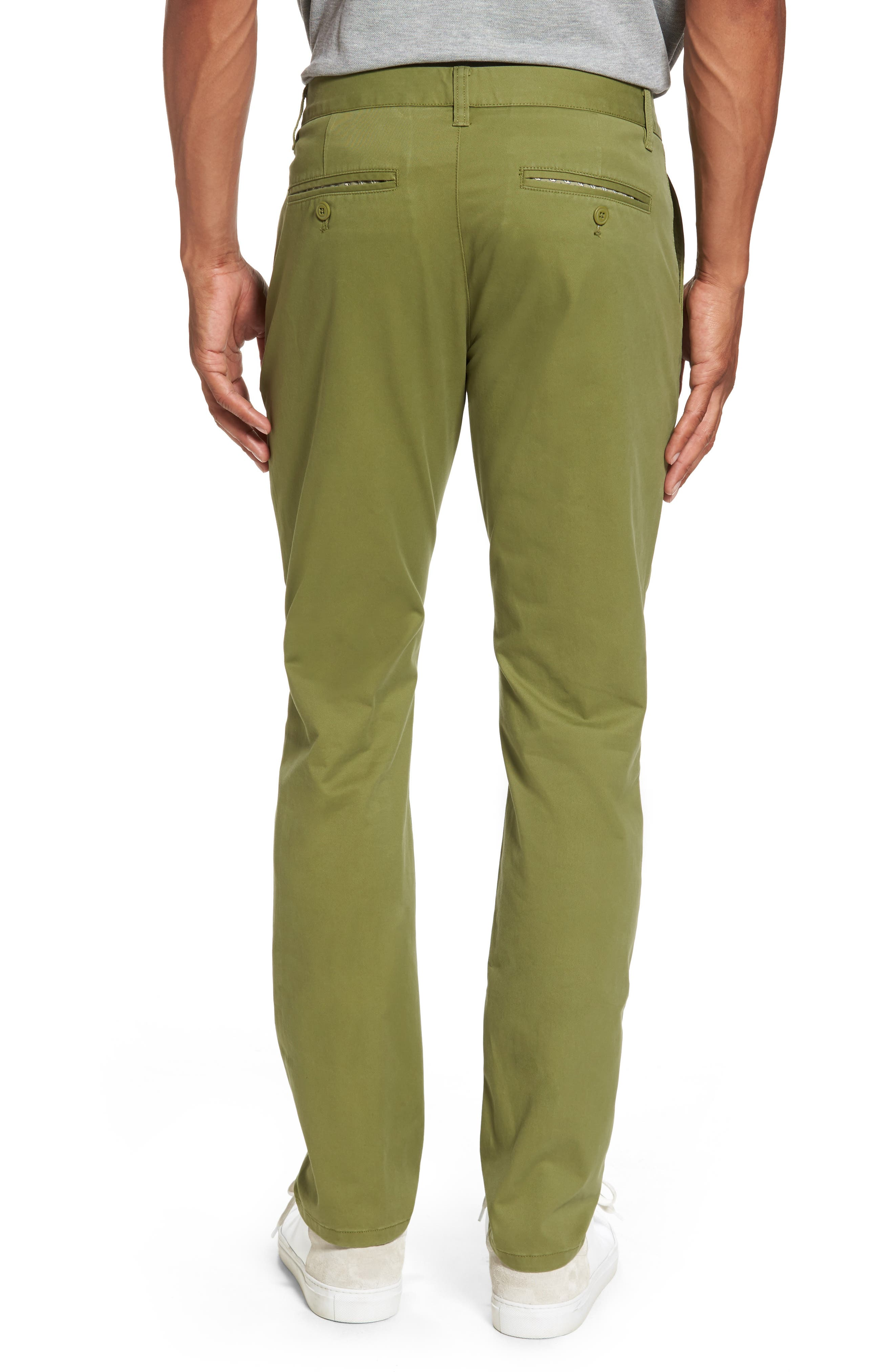 Tailored Fit Washed Stretch Cotton Chinos,                             Alternate thumbnail 42, color,