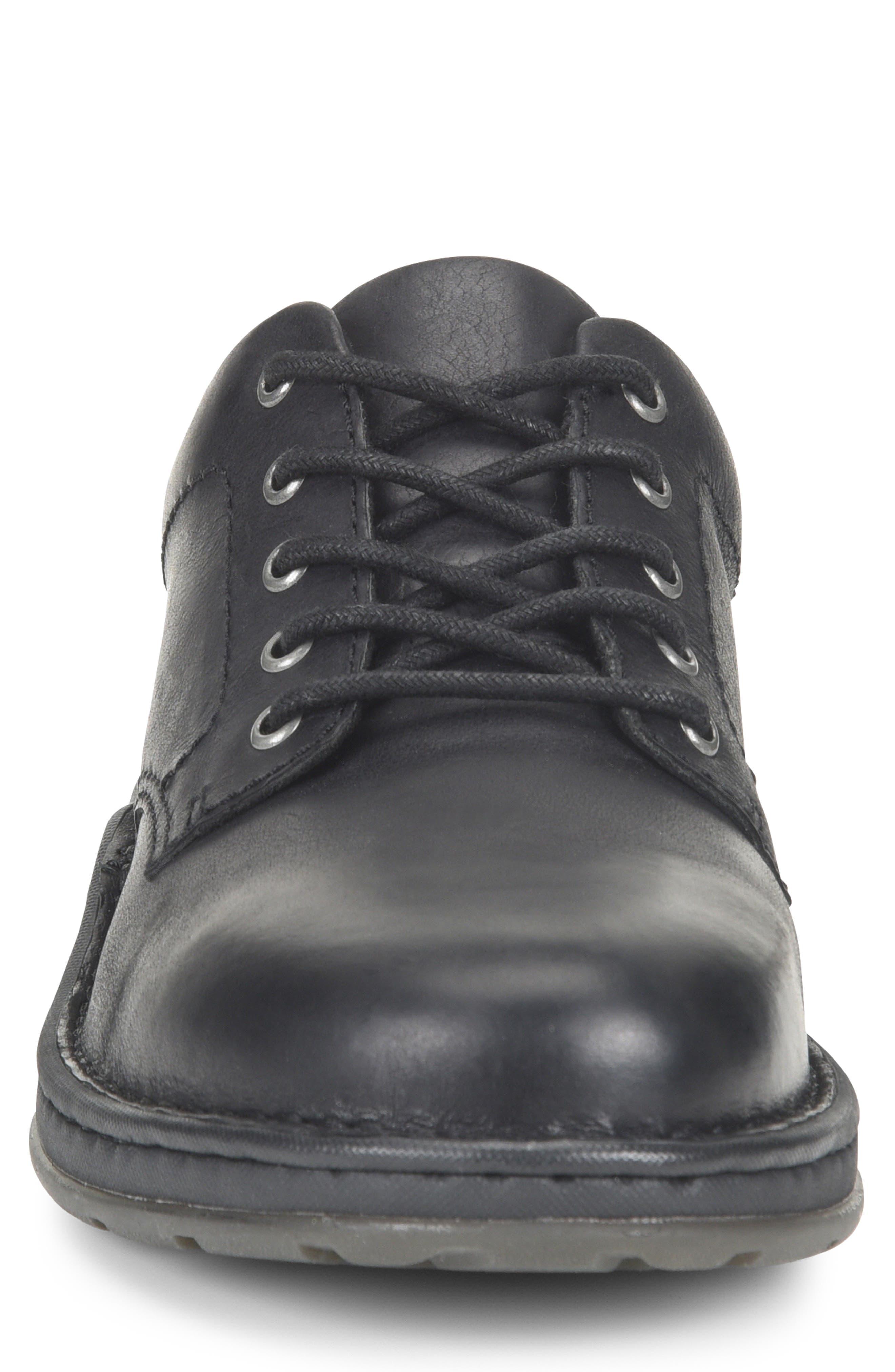 Karl Plain Toe Derby,                             Alternate thumbnail 4, color,                             BLACK LEATHER