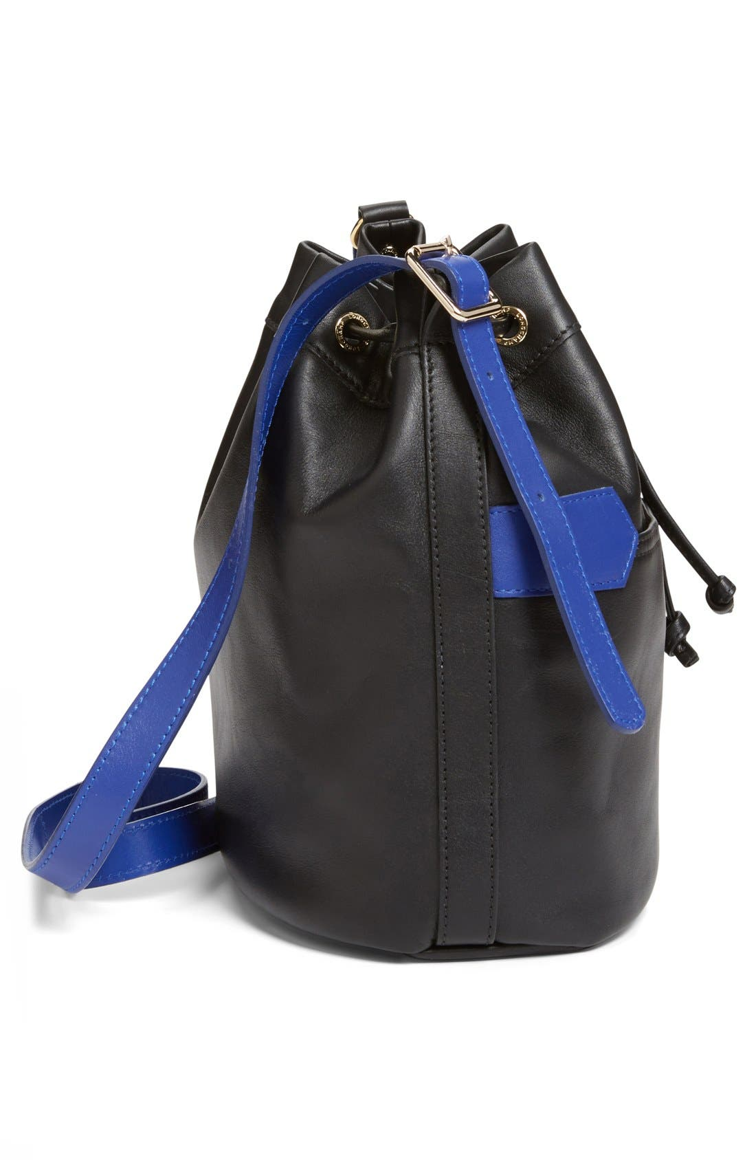LONGCHAMP,                             '2.0' Leather Bucket Bag,                             Alternate thumbnail 6, color,                             001