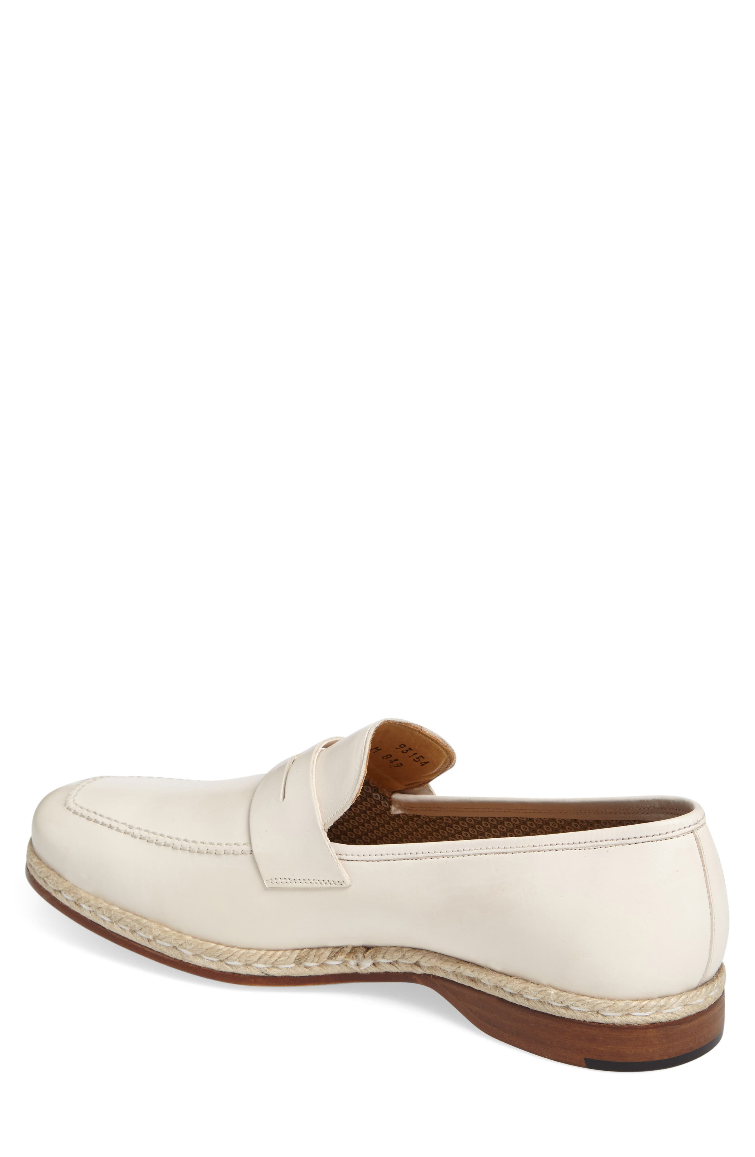 Battani Penny Loafer,                             Alternate thumbnail 2, color,                             BONE LEATHER