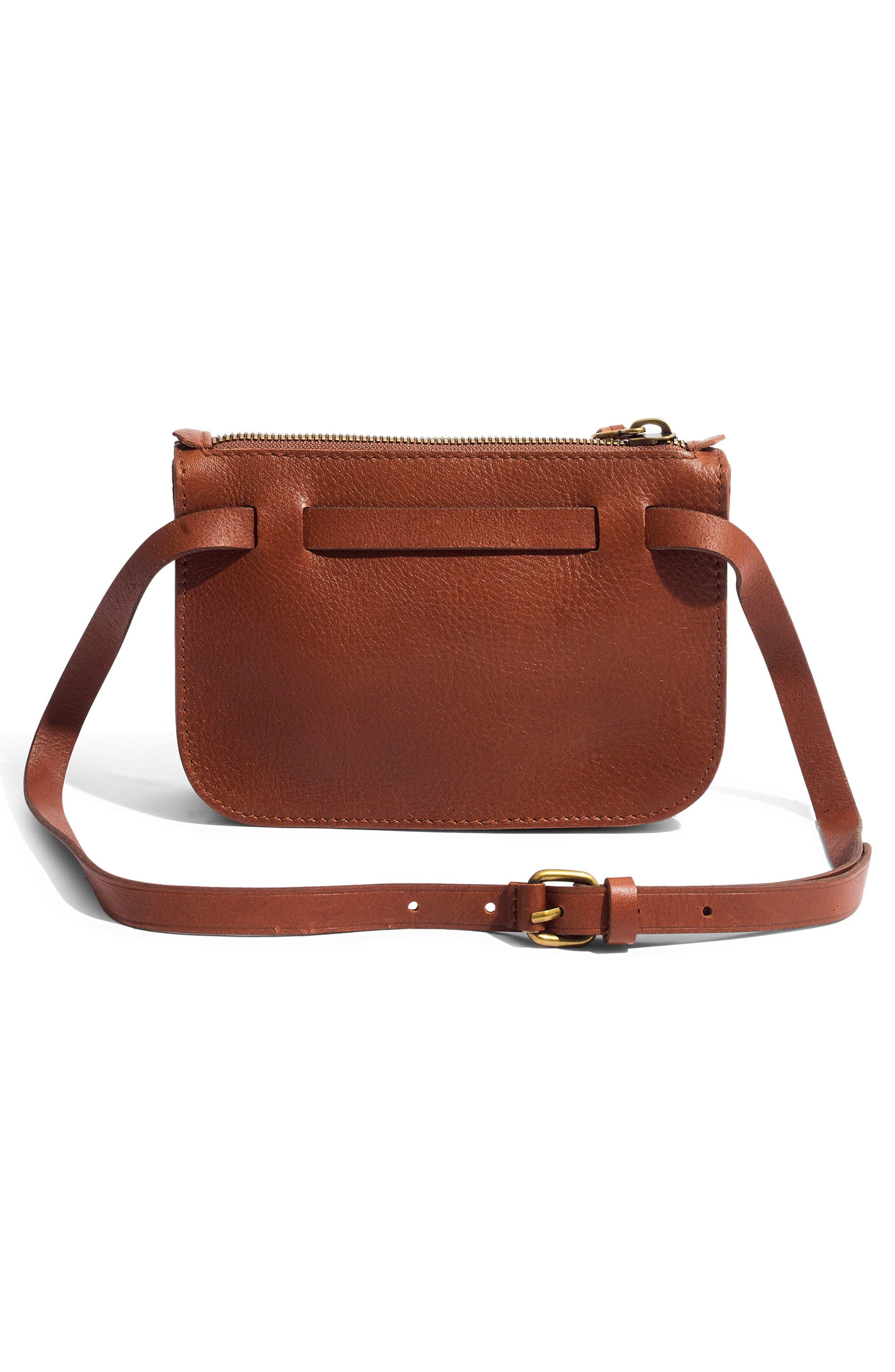The Simple Pouch Belt Bag,                             Alternate thumbnail 4, color,                             ENGLISH SADDLE