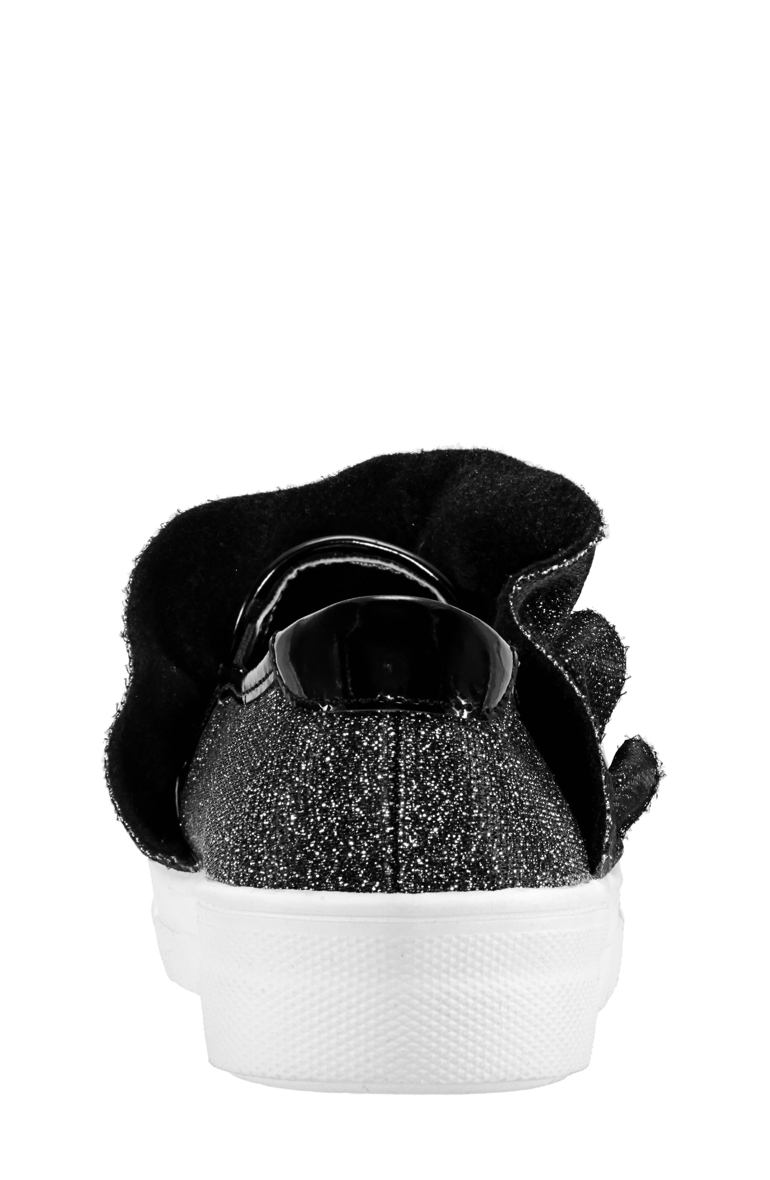 Ivani Slip-On Sneaker,                             Alternate thumbnail 7, color,                             BLACK SPARKLE FABRIC