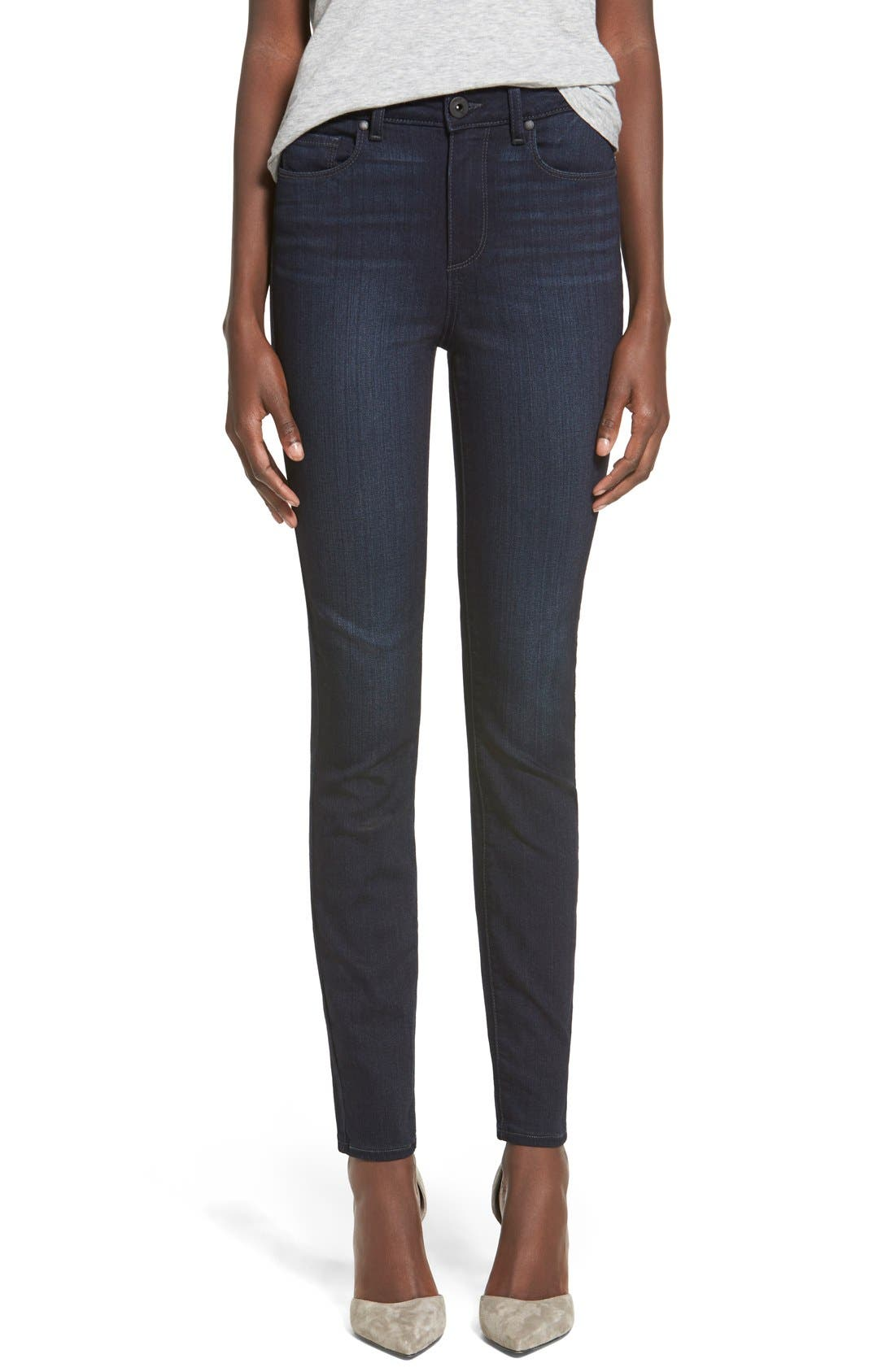 Denim 'Transcend - Hoxton' High Rise Ankle Skinny Jeans,                             Main thumbnail 1, color,                             400