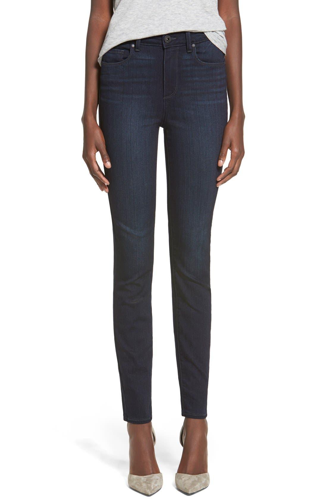 Denim 'Transcend - Hoxton' High Rise Ankle Skinny Jeans, Main, color, 400