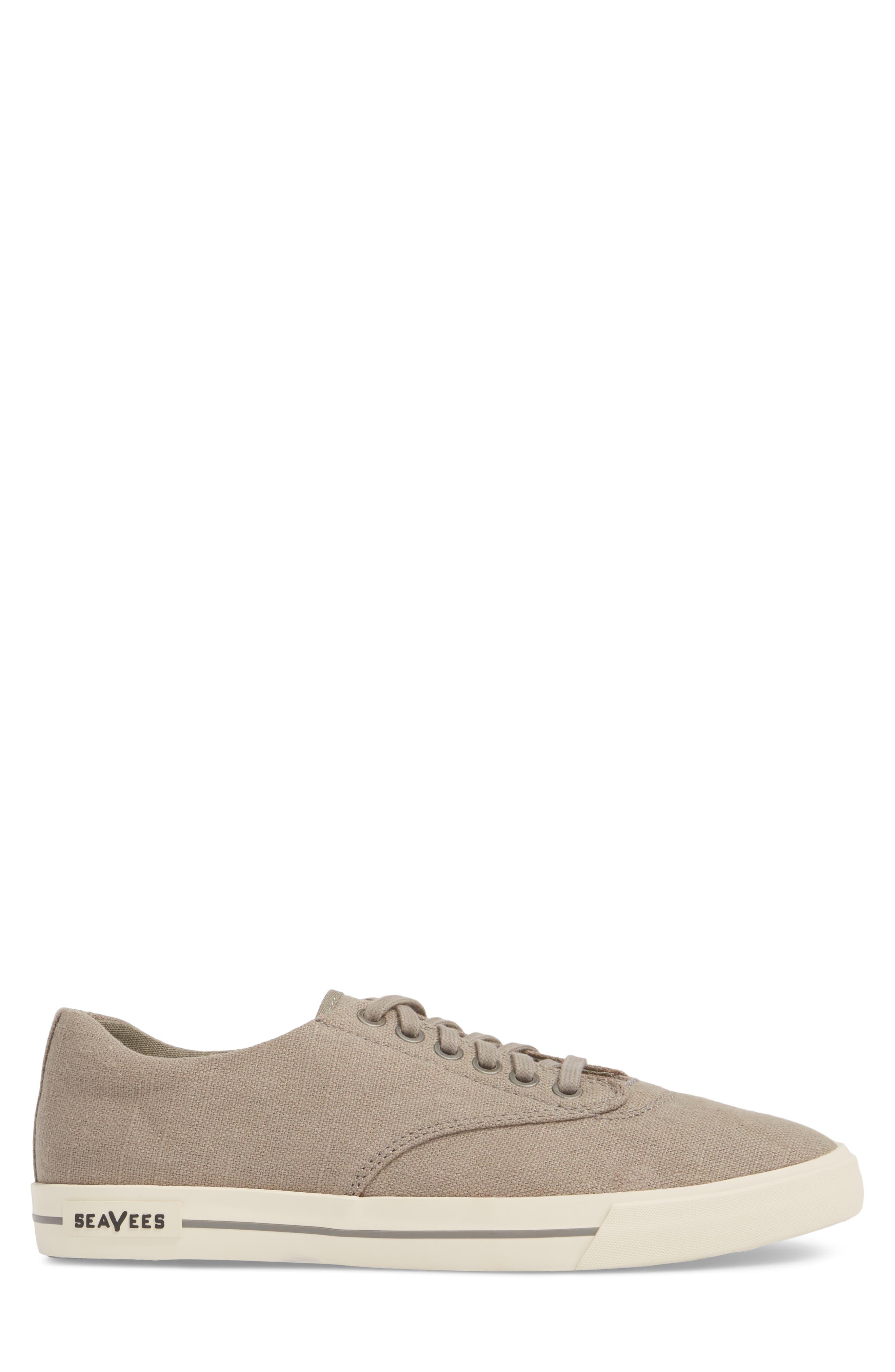 'Hermosa Plimsoll' Sneaker,                             Alternate thumbnail 3, color,                             TIN GREY VINTAGE WASH LINEN