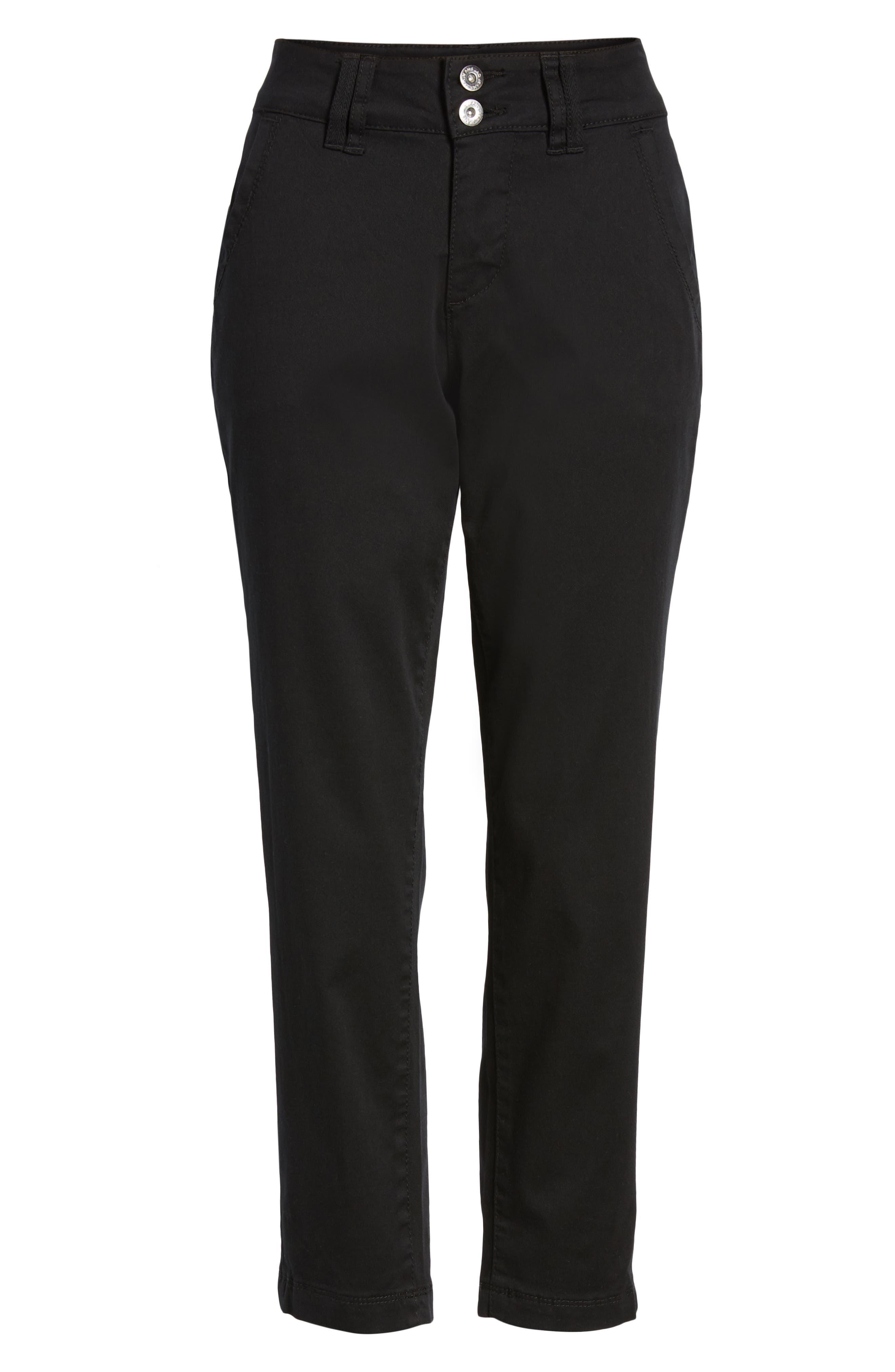 JAG JEANS,                             Flora Crop Pants,                             Alternate thumbnail 6, color,                             BLACK