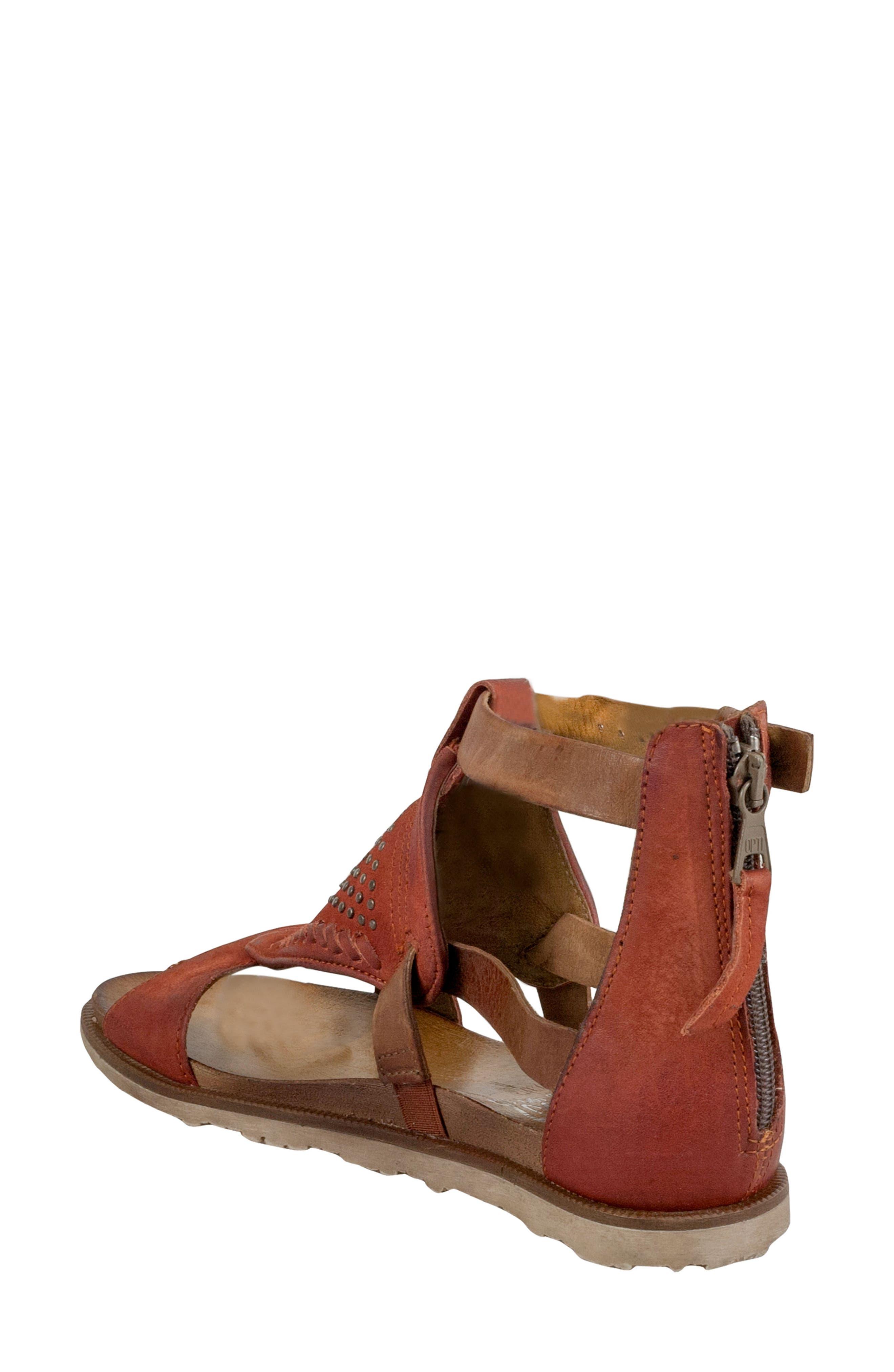 Tessa Studded Diamond Sandal,                             Alternate thumbnail 4, color,