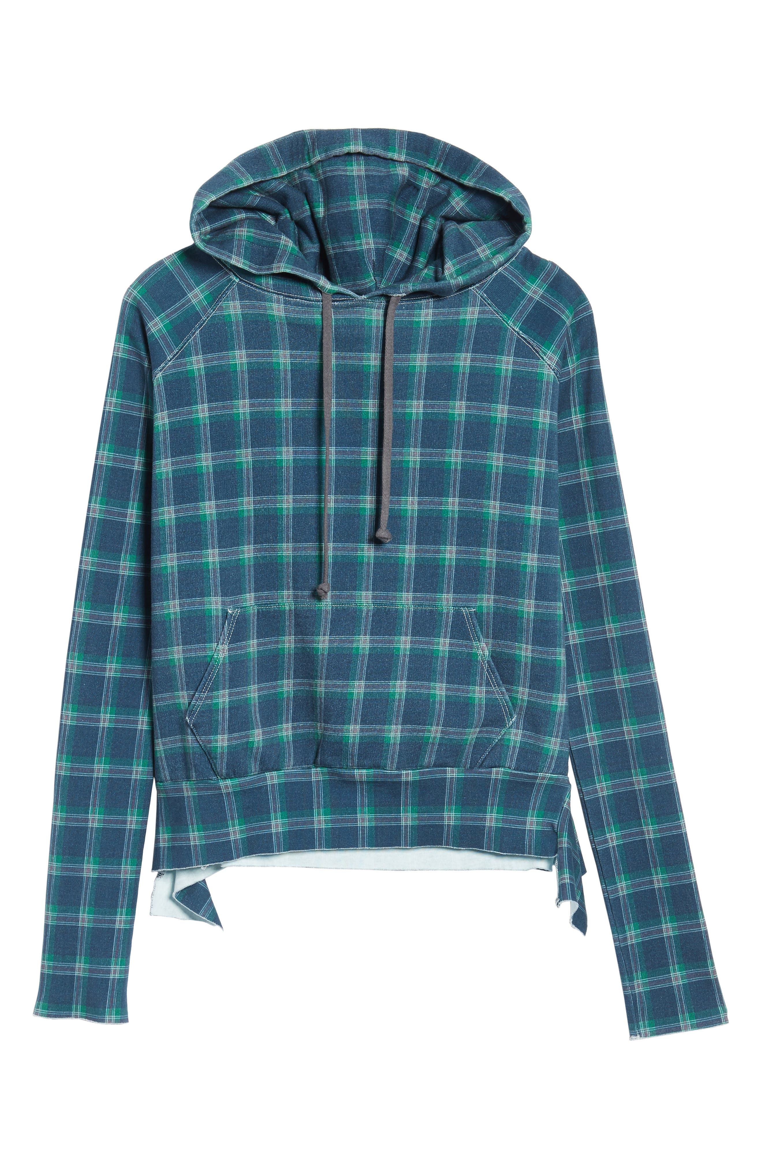 Plaid Pullover Hoodie,                             Alternate thumbnail 6, color,                             400