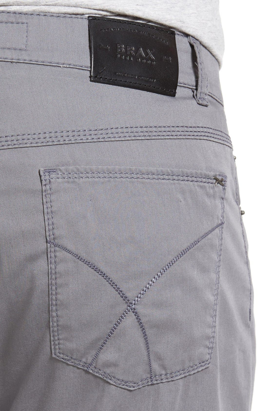 BRAX,                             Cooper Prestige Stretch Cotton Pants,                             Alternate thumbnail 10, color,                             GRAPHITE