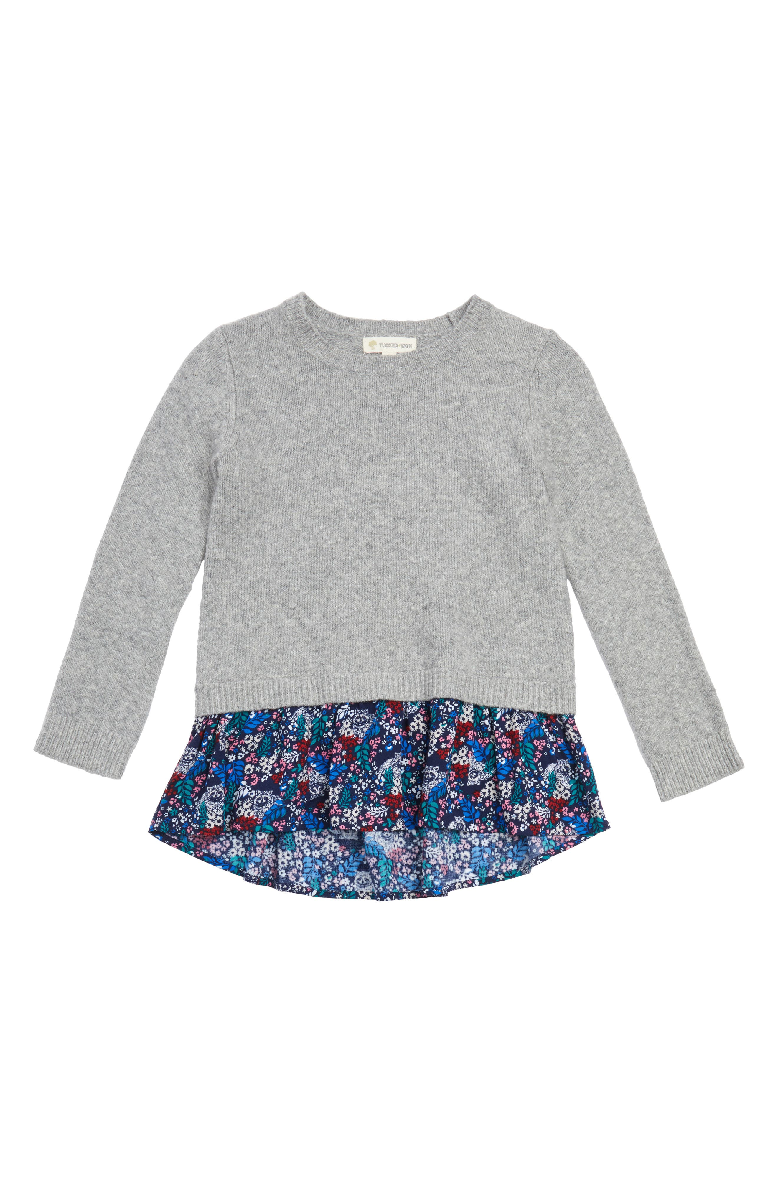 Mixed Media Sweater,                             Main thumbnail 1, color,                             030