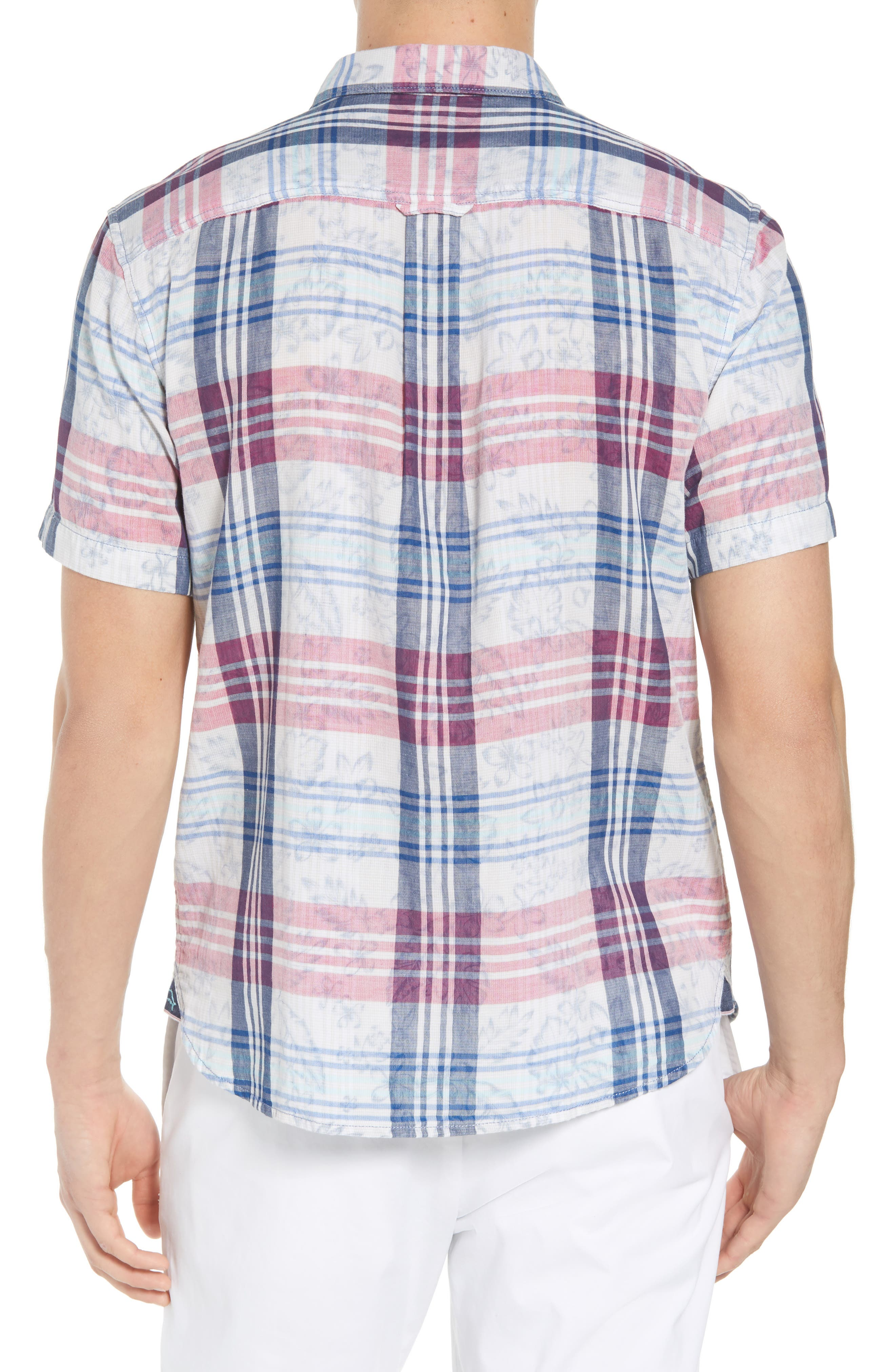 Zuma Plaid Sport Shirt,                             Alternate thumbnail 2, color,                             OCEAN DEEP
