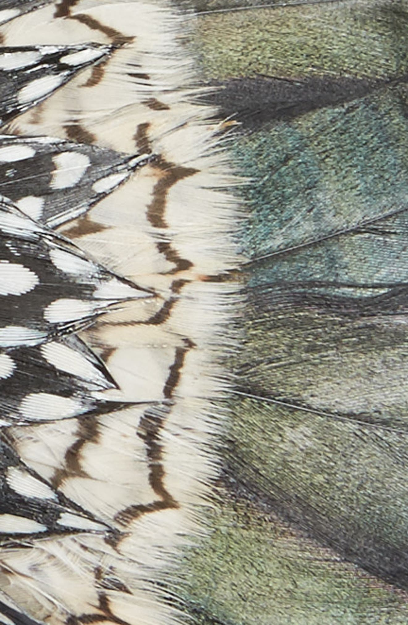 St. Pierre Feather Bow Tie,                             Alternate thumbnail 2, color,                             BLACK/ WHITE
